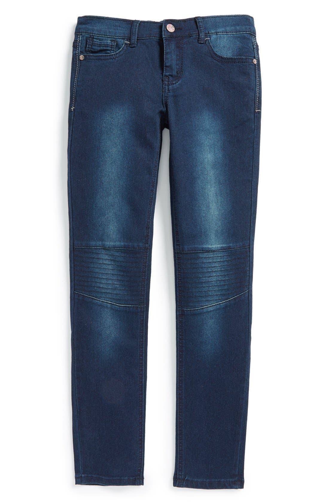 Main Image - Vigoss Moto Skinny Jeans (Big Girls)