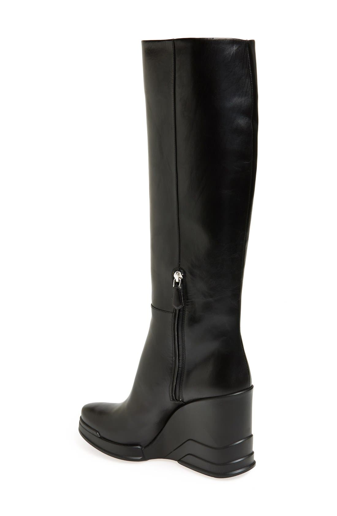 Alternate Image 2  - Prada Knee High Wedge Boot (Women)