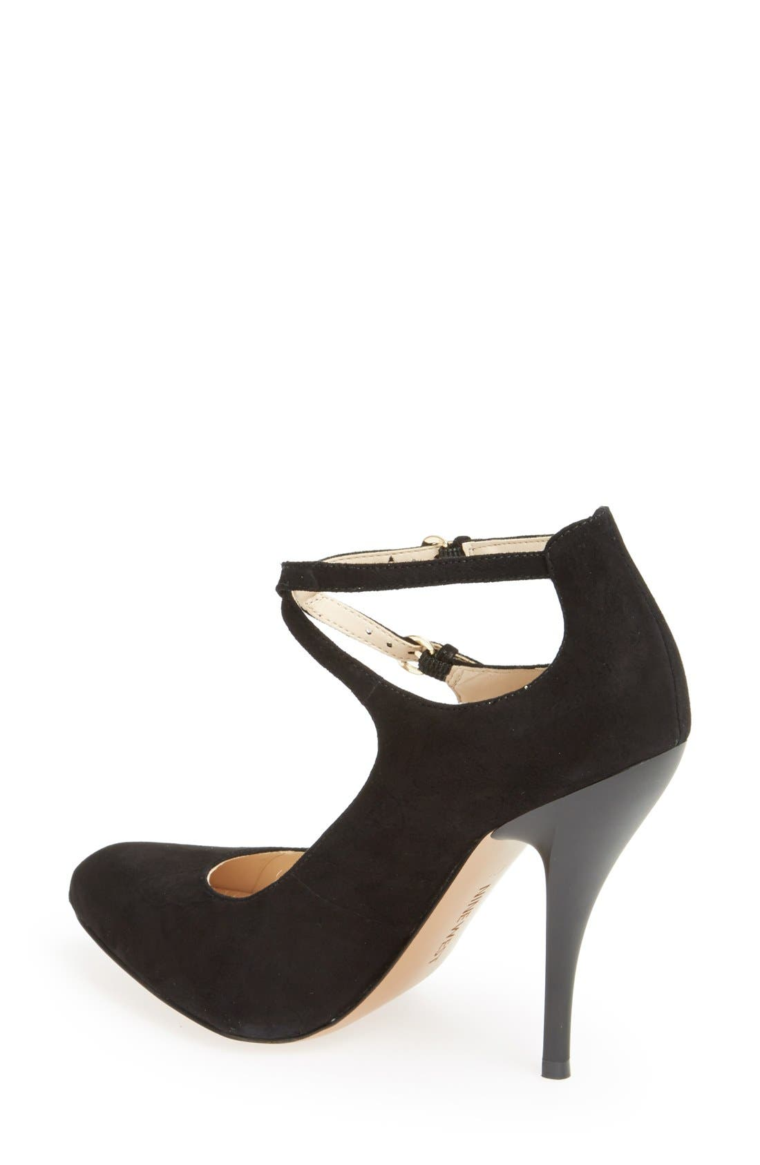 Alternate Image 2  - Nine West 'Coherent' Ankle Strap Suede Pump (Women)