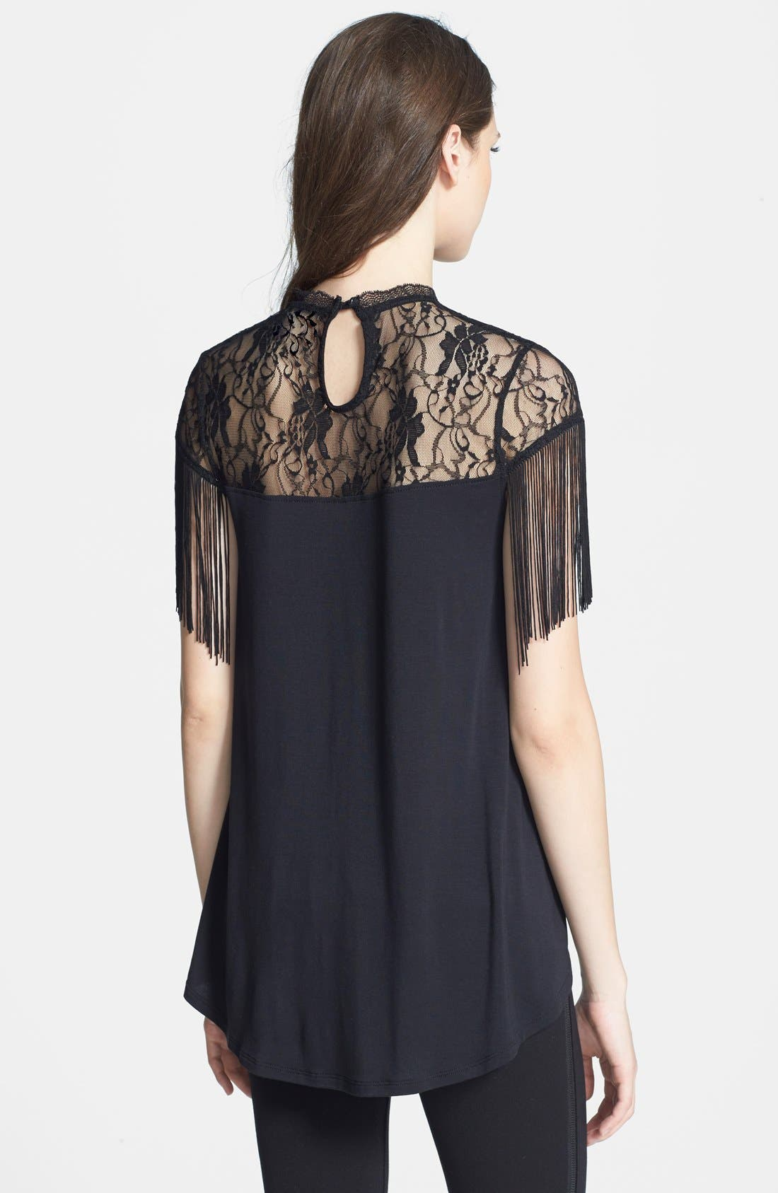 Alternate Image 2  - Madison & Berkeley Fringe Shoulder Swing Top