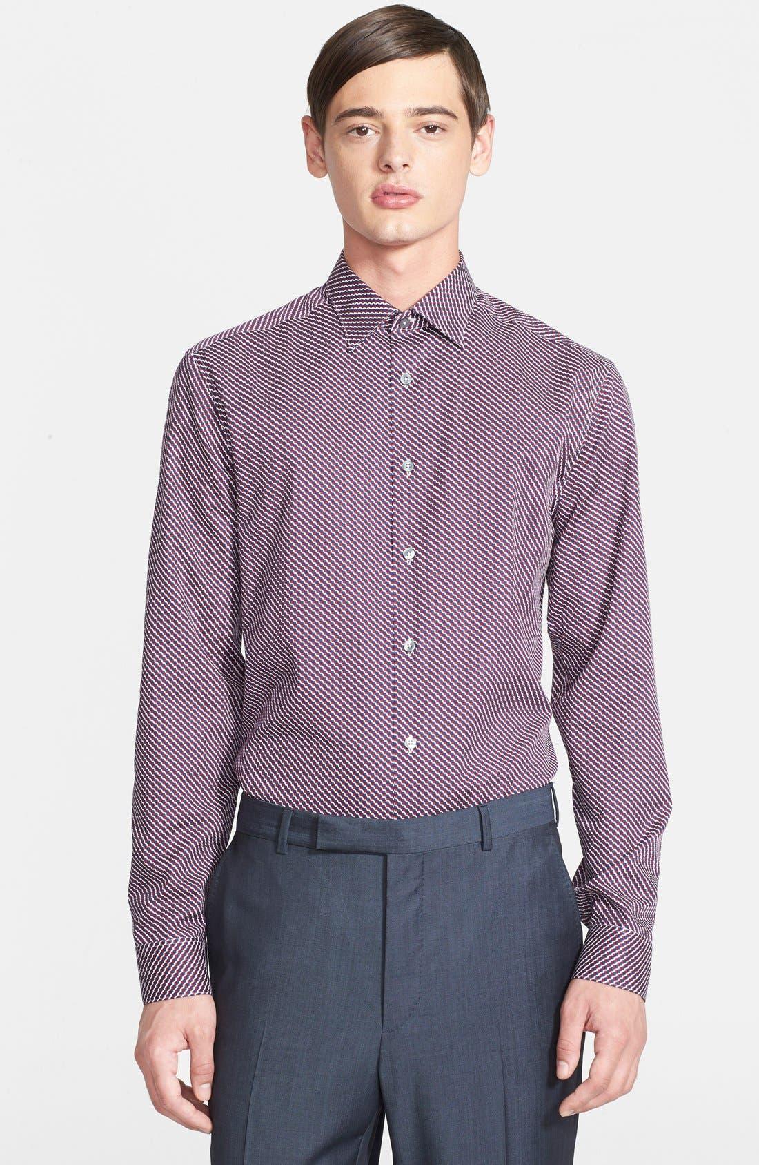 Alternate Image 1 Selected - Paul Smith London 'Byard' Trim Fit Dot Print Dress Shirt