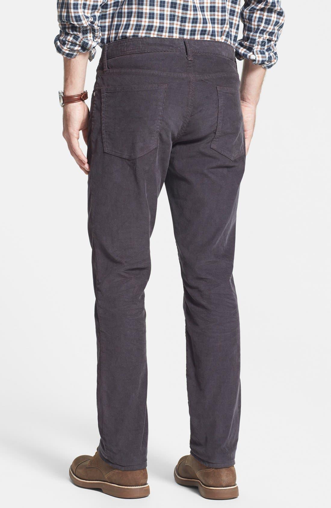 Alternate Image 2  - Bonobos Straight Leg Five-Pocket Corduroy Pants