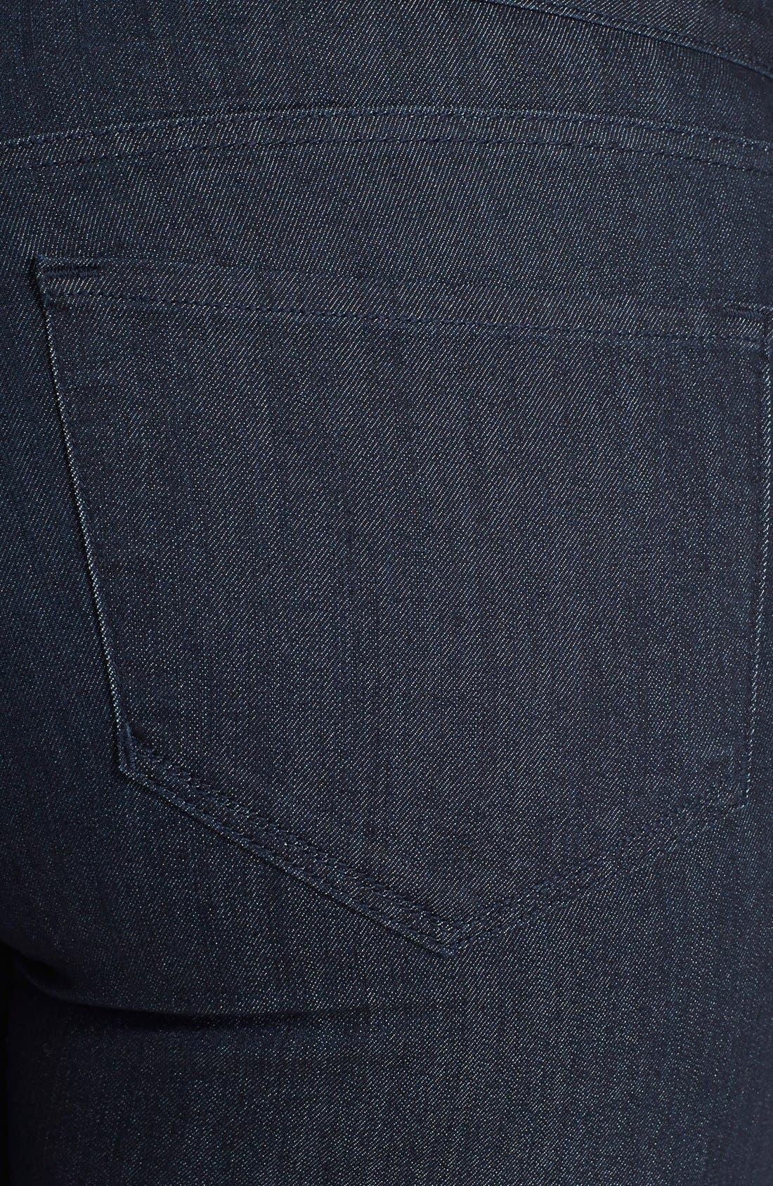 Alternate Image 3  - NYDJ 'Ami' Tonal Stitch Stretch Skinny Jeans (Dark Enzyme) (Plus Size)