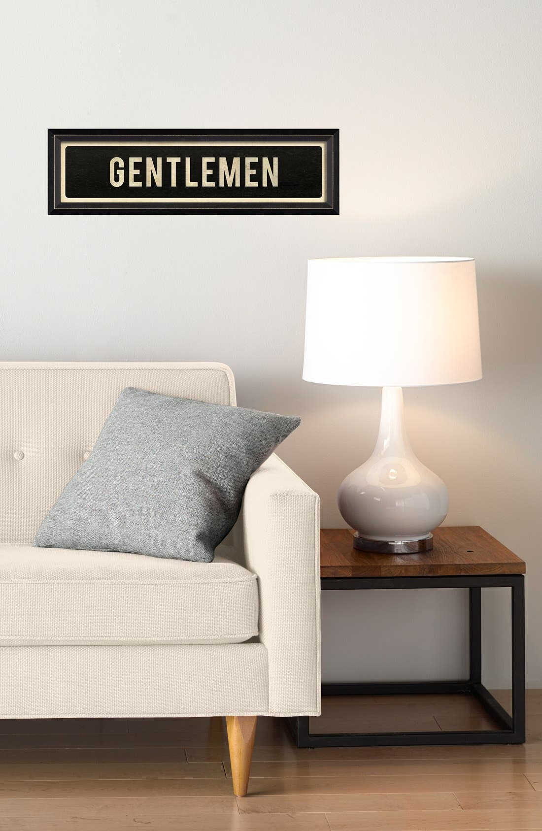 Alternate Image 2  - Spicher and Company 'Gentlemen' Vintage Look Sign Artwork