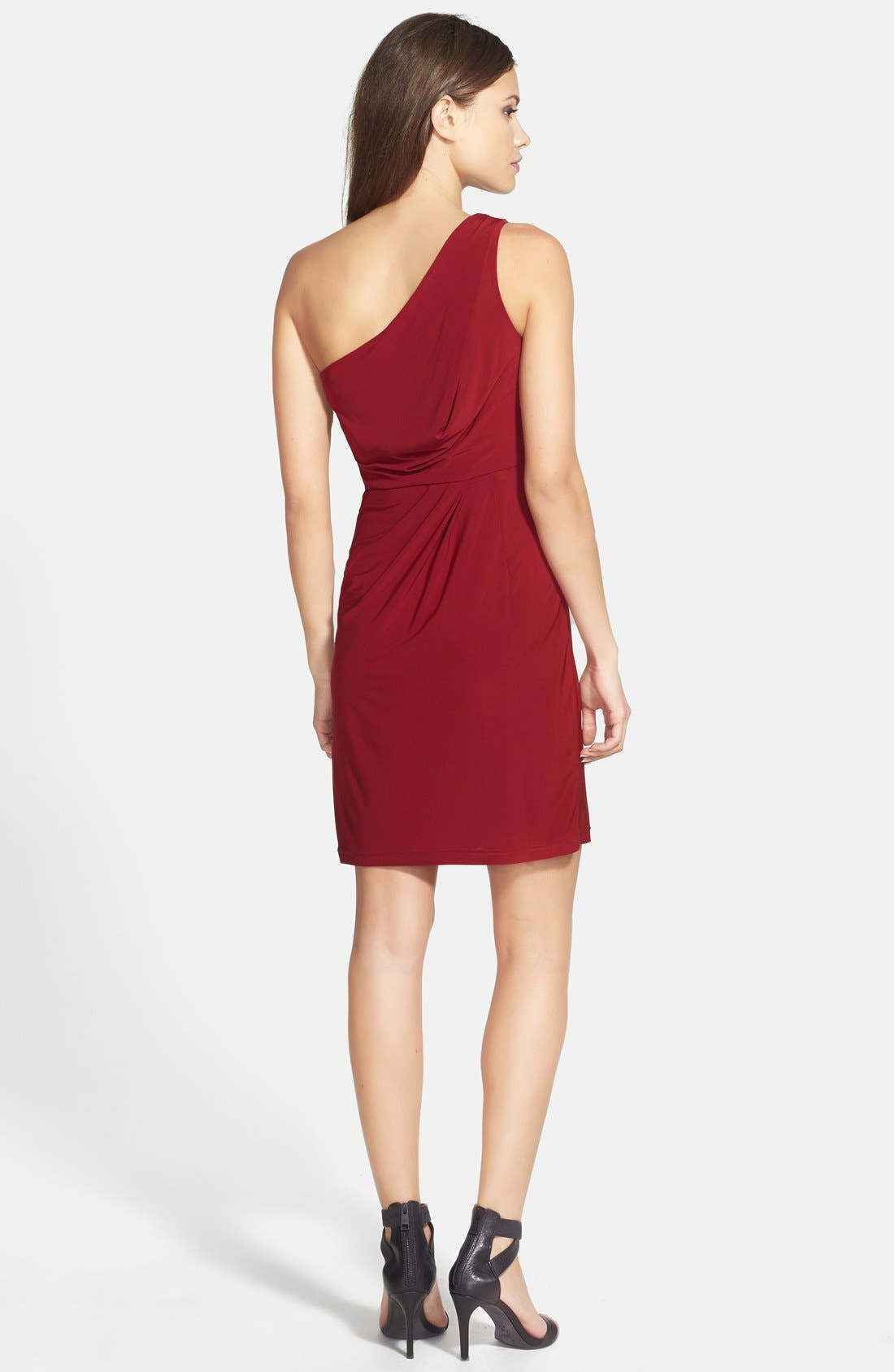Alternate Image 2  - Hailey by Adrianna Papell Jersey One-Shoulder Dress