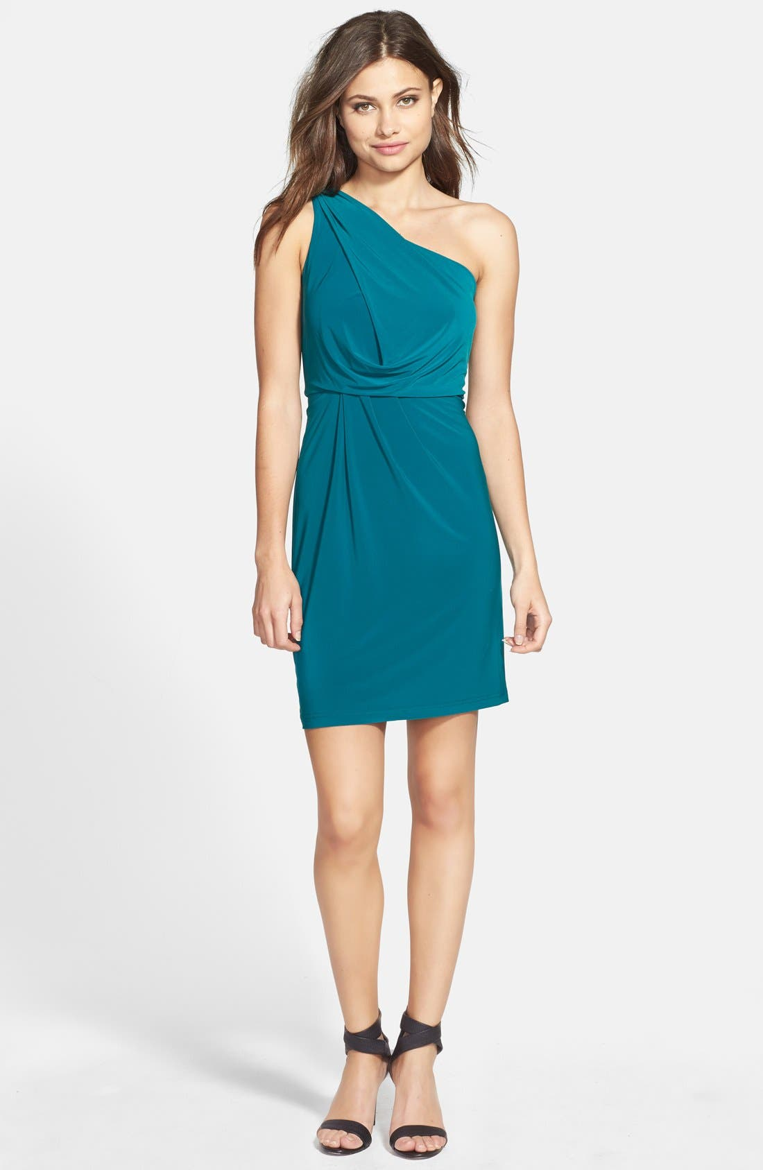 Alternate Image 3  - Hailey by Adrianna Papell Jersey One-Shoulder Dress