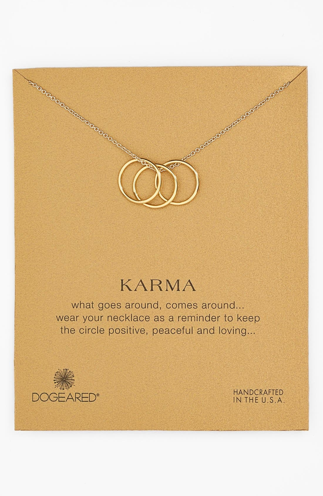 Main Image - Dogeared 'Karma' Charm Necklace