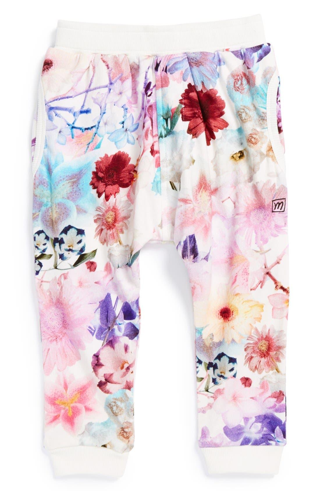 Alternate Image 1 Selected - Munsterkids 'Flower Child' Cotton Track Pants (Little Girls)