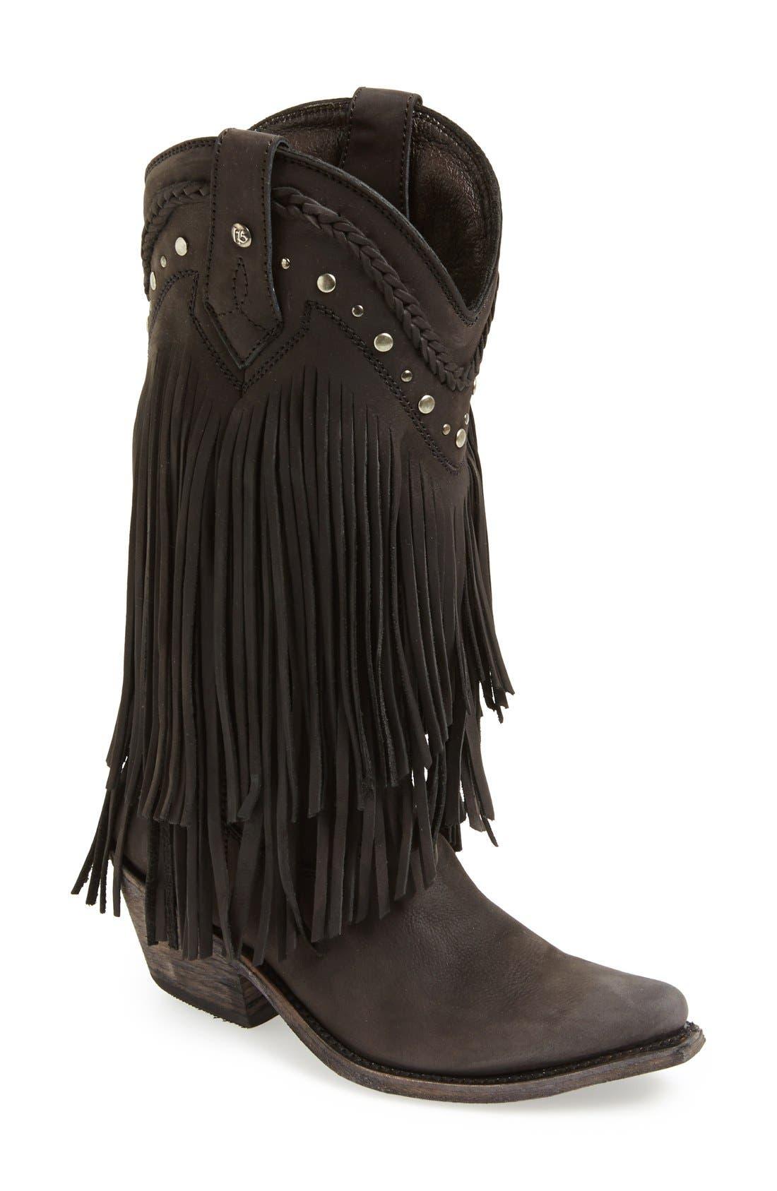 Main Image - Liberty Black Tall Fringe Boot (Women)