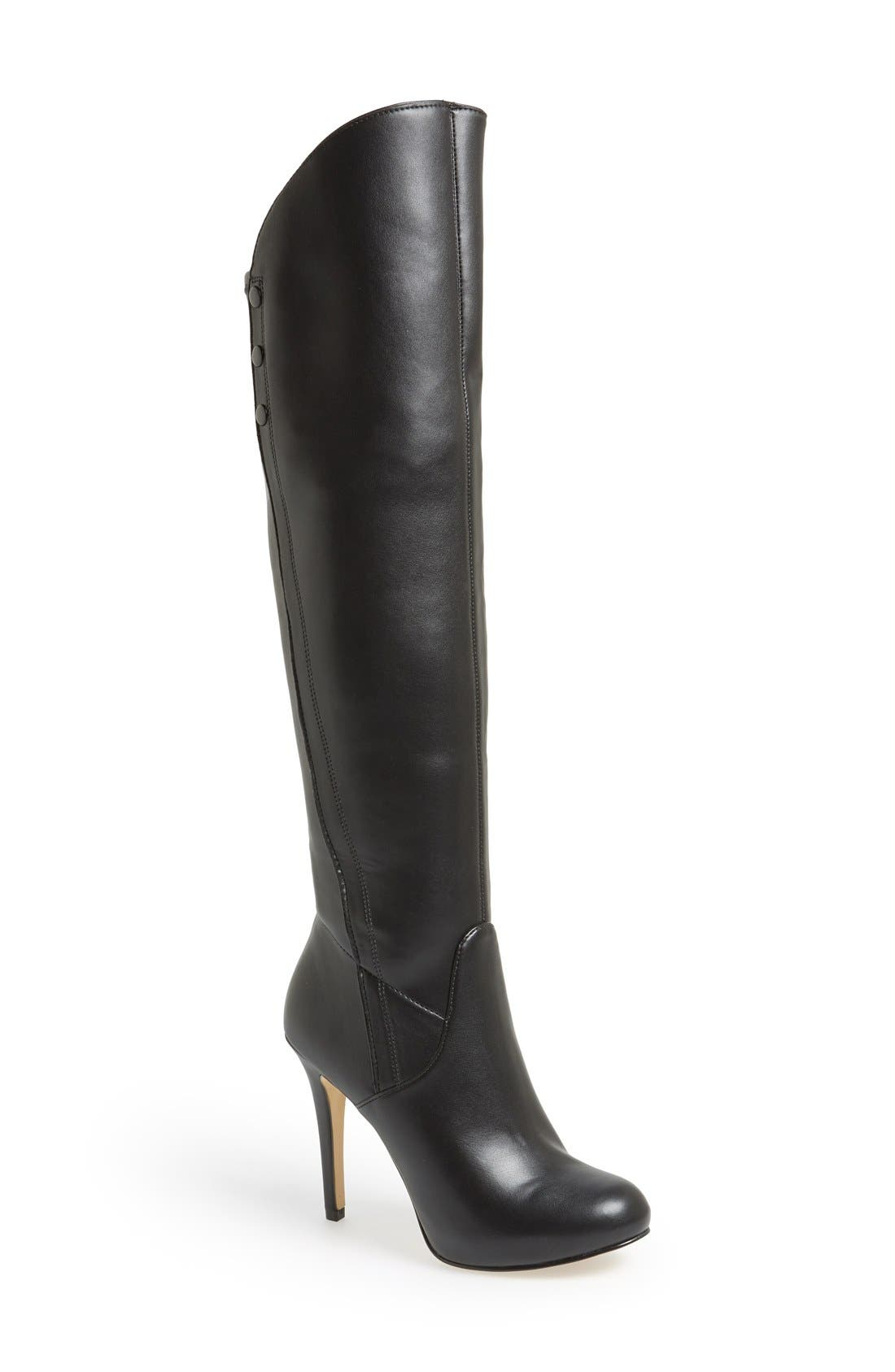 Main Image - Guess 'Enesta' Platform Over The Knee Boot (Women)
