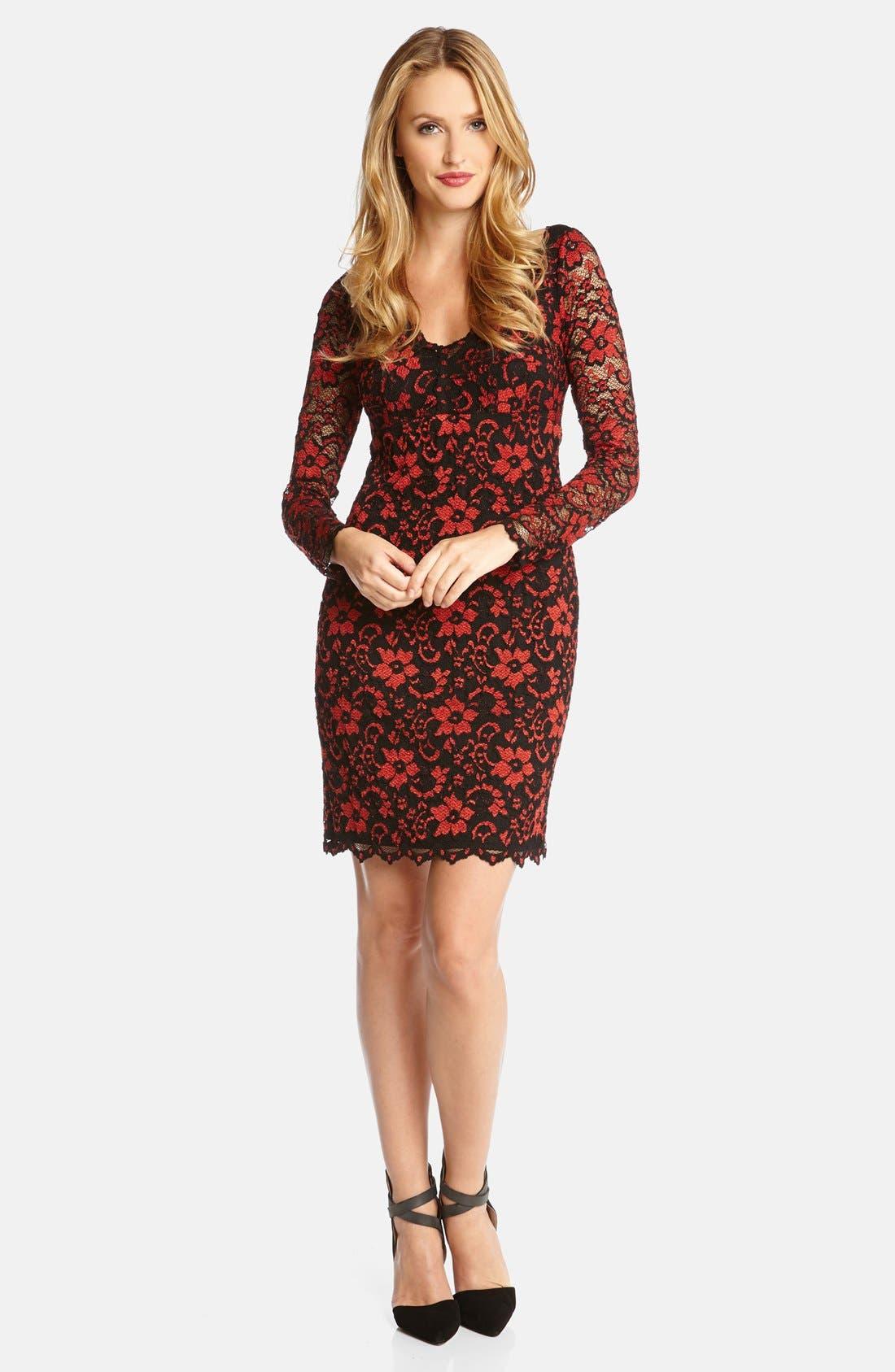 Alternate Image 1 Selected - Karen Kane Scallop Lace Dress