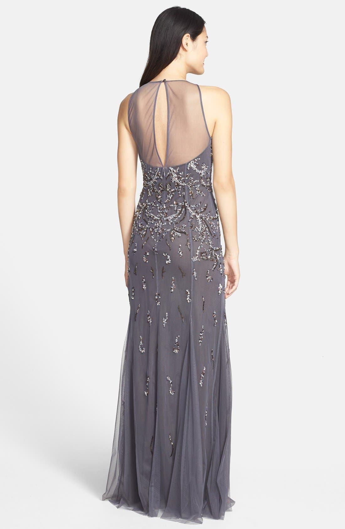 Alternate Image 2  - Aidan Mattox Embellished Mesh Gown