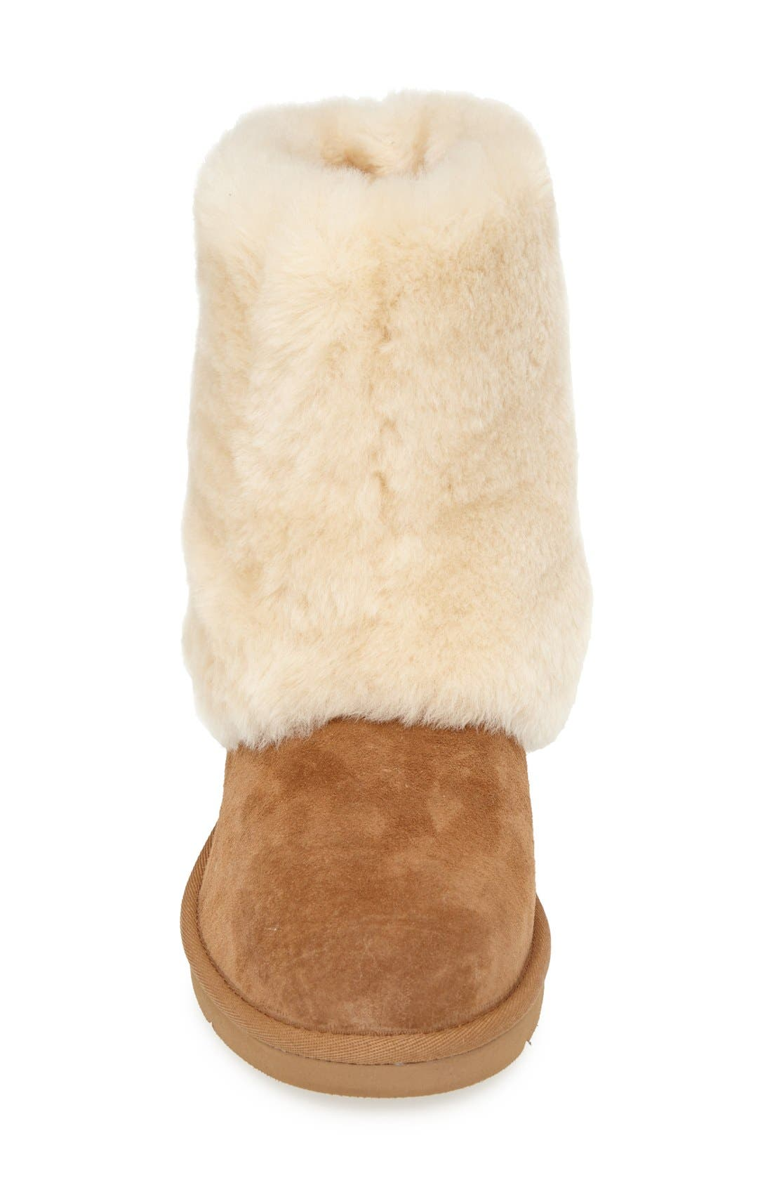 Alternate Image 3  - UGG® 'Patten' Water Resistant Silkee™ Suede Shearling Cuff Boot (Women)