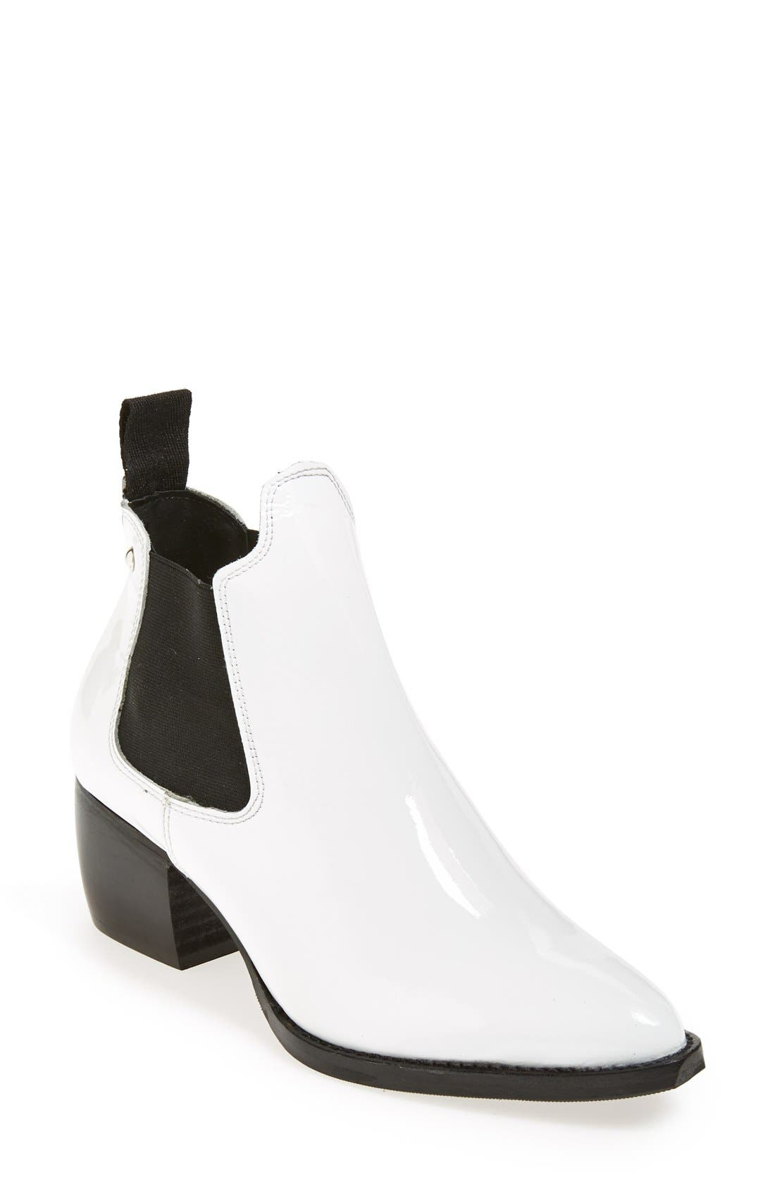 Alternate Image 1 Selected - Topshop 'Margot' Leather Ankle Bootie (Women)