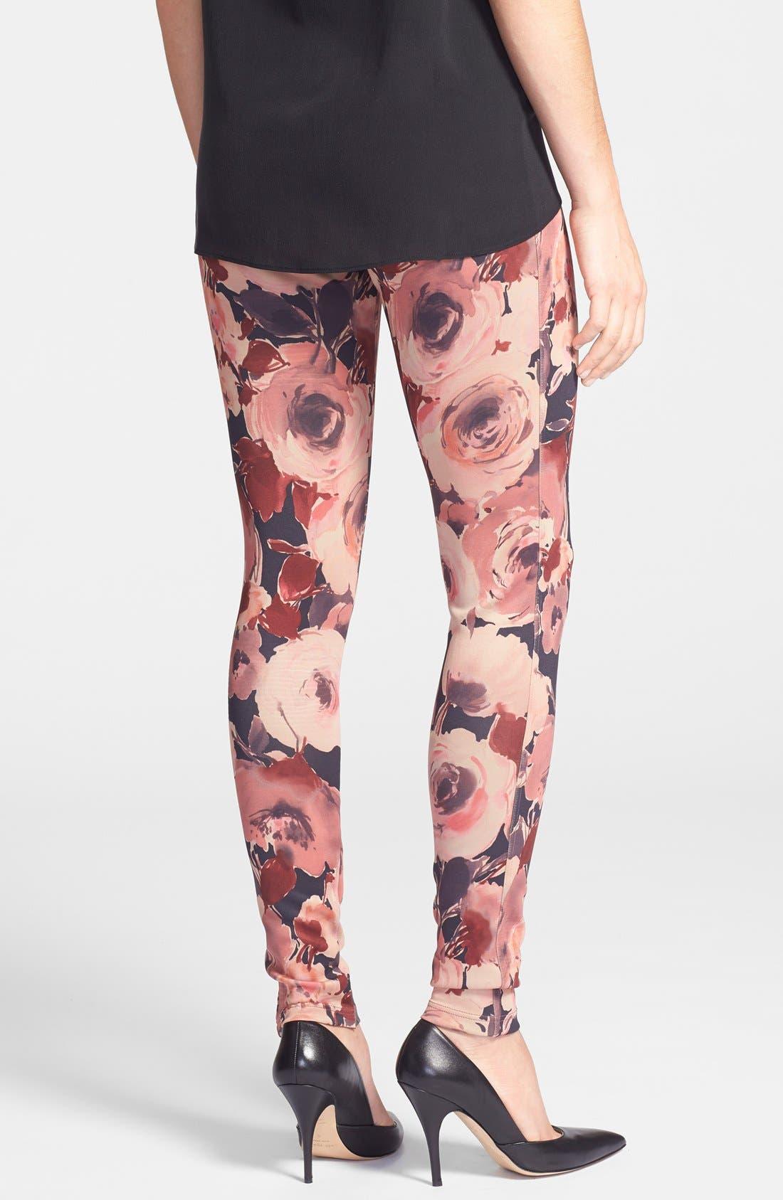 Alternate Image 2  - Oroblu 'Flower' Print Leggings