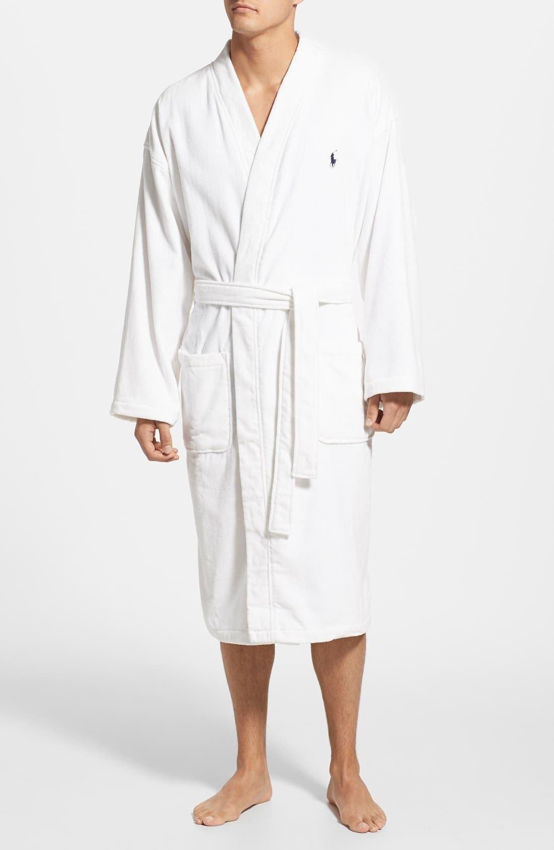 Alternate Image 1 Selected - Polo Ralph Lauren Velour Kimono Robe