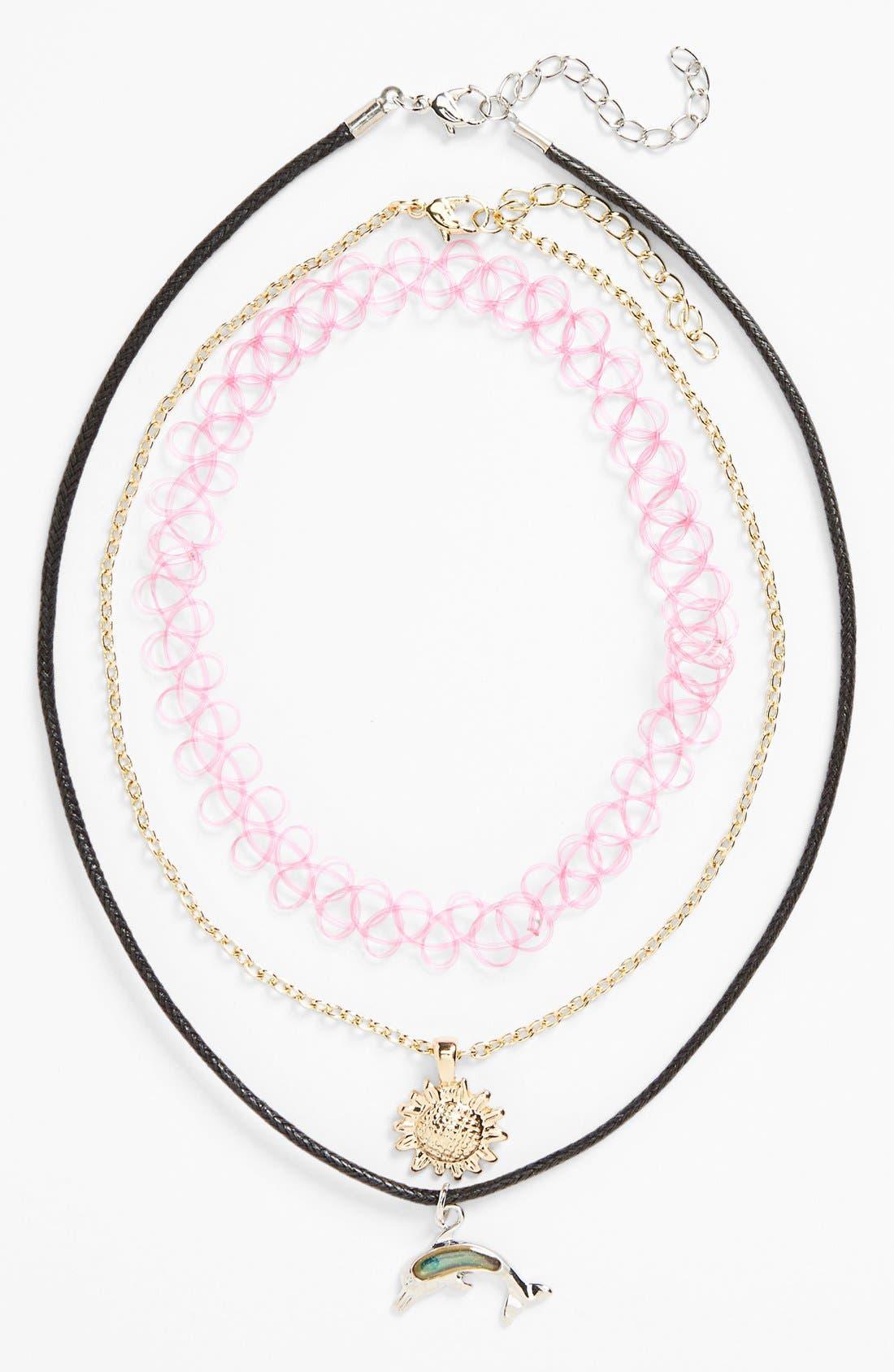 Alternate Image 2  - Topshop Necklaces (3-Pack)
