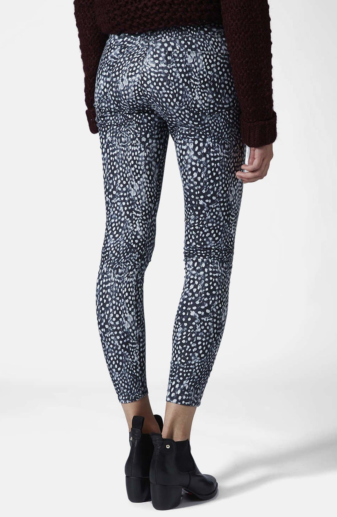 Alternate Image 2  - Topshop Moto 'Leigh - Guinea Dot' Ankle Skinny Jeans