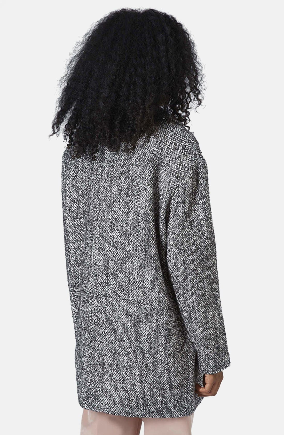 Alternate Image 2  - Topshop Textured Wool Jacket