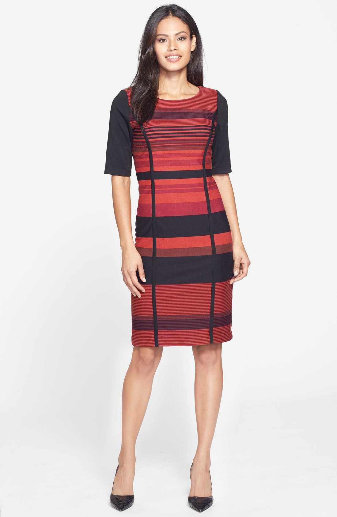 Alternate Image 3  - Gabby Sky Stripe Ponte Sheath Dress