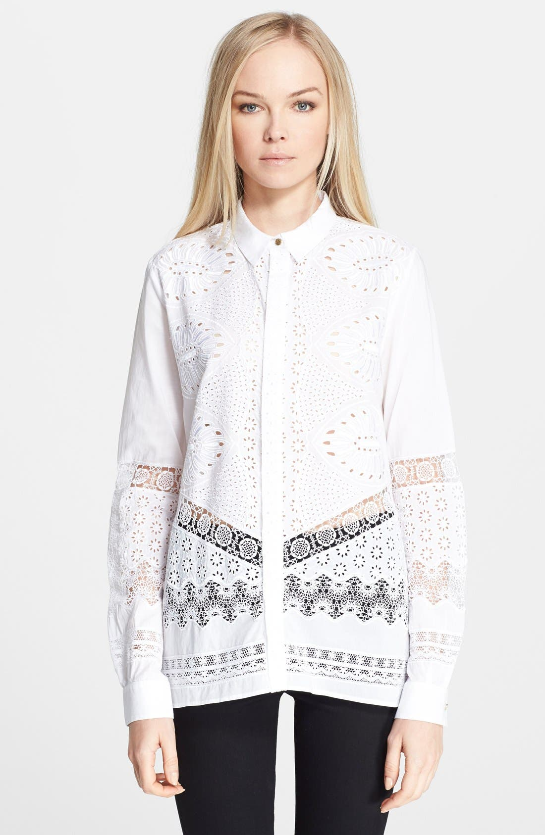 Roberto Cavalli Cutout Detail Cotton Shirt