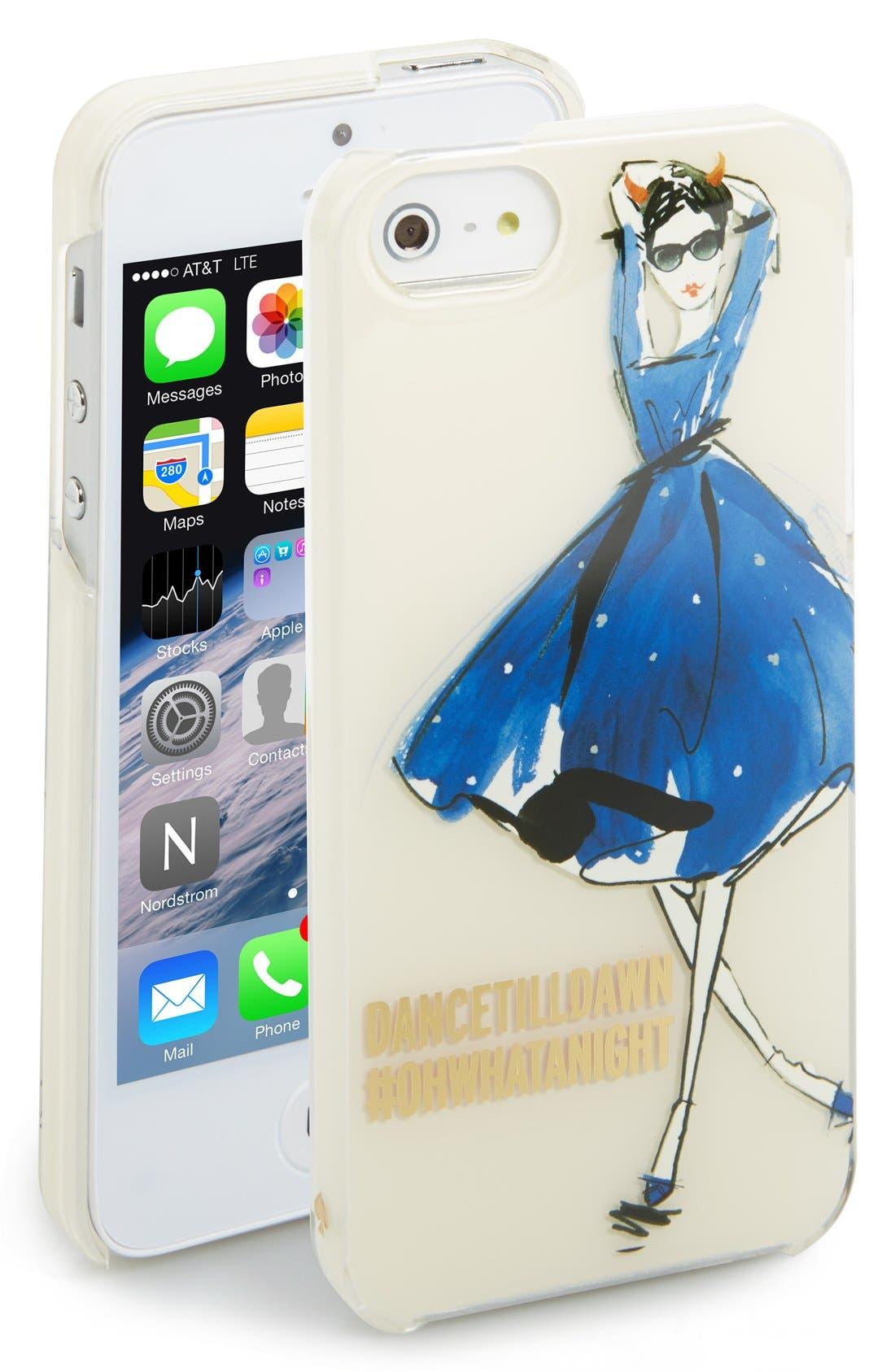 Alternate Image 1 Selected - kate spade new york 'naughty girl' iPhone 5 & 5s case
