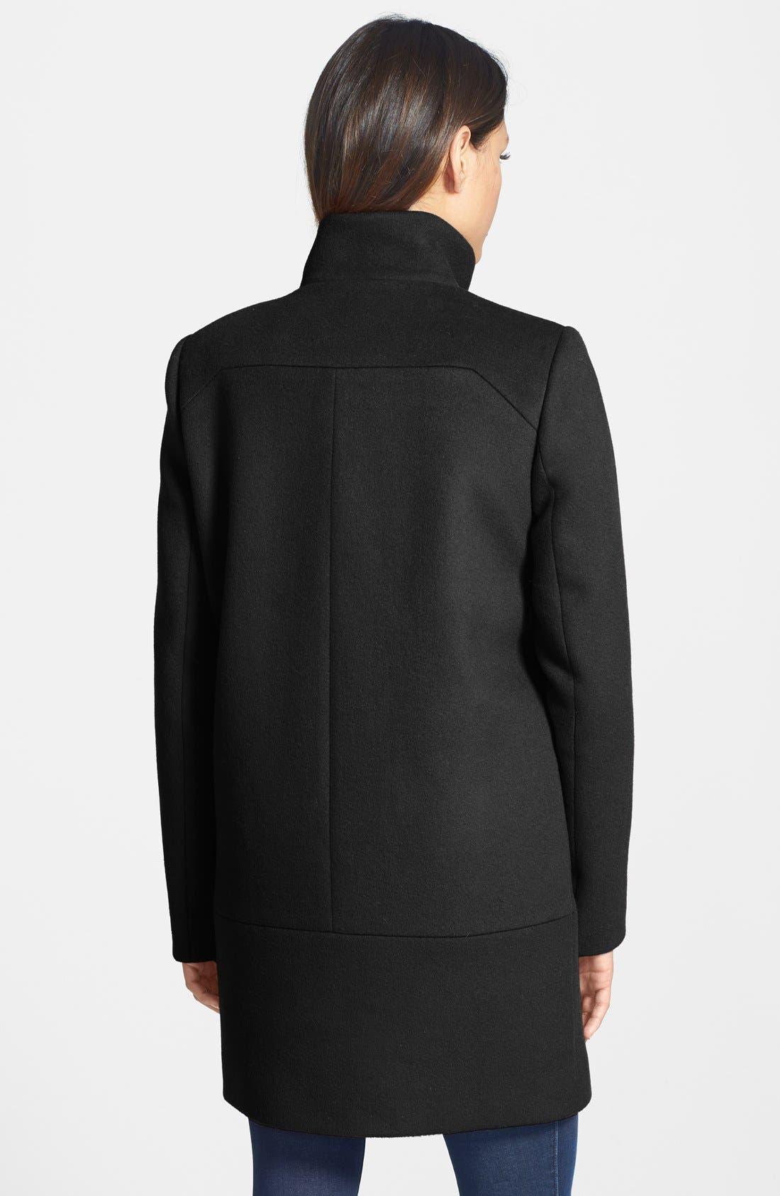 Alternate Image 2  - Diane von Furstenberg 'Lauren' Asymmetrical Zip Wool Blend Coat