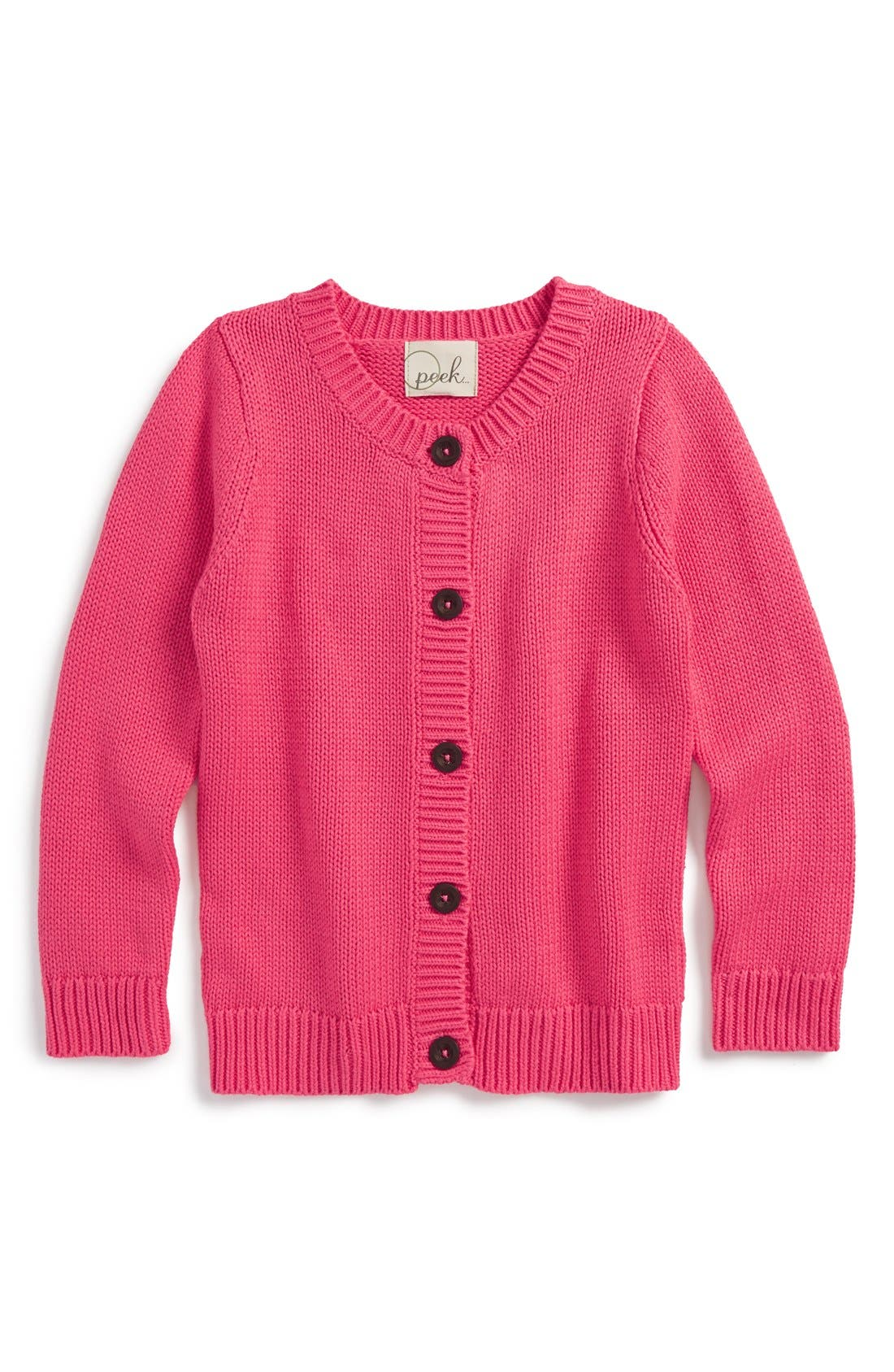 Alternate Image 1 Selected - Peek 'Brianna' Knit Cardigan (Toddler Girls, Little Girls & Big Girls)