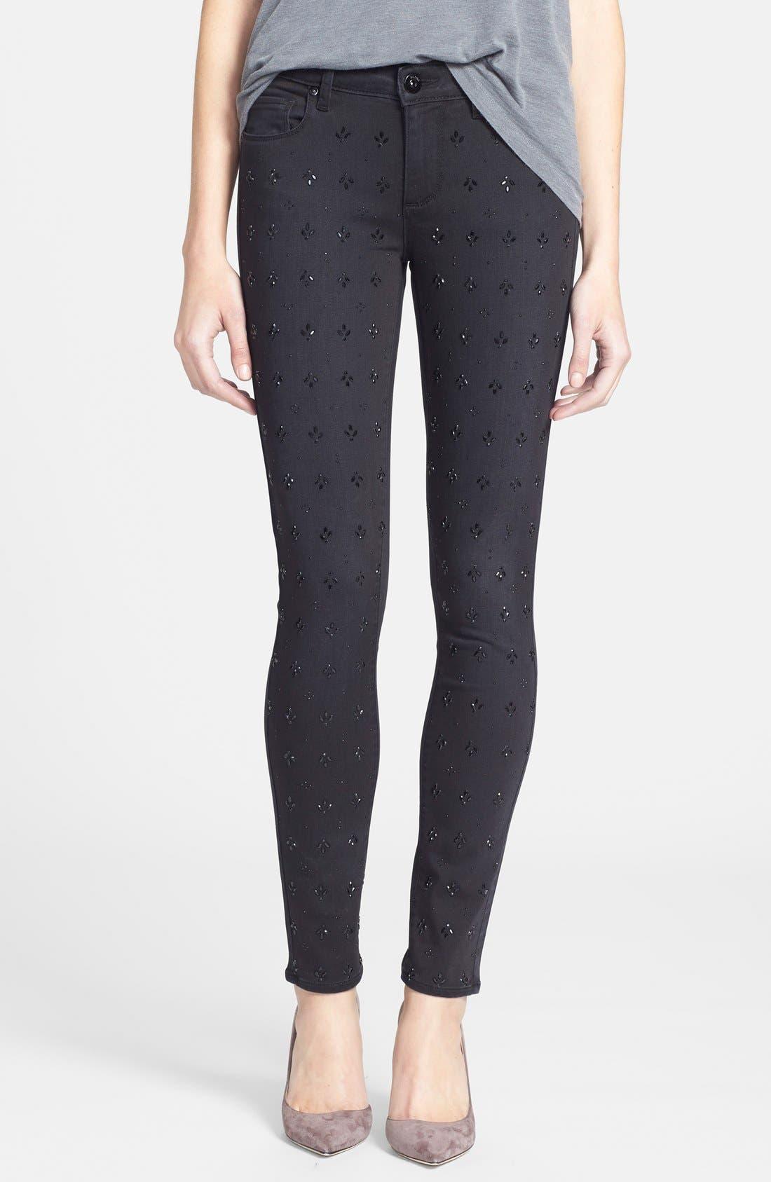 Alternate Image 1 Selected - Paige Denim 'Verdugo' Ultra Skinny Jeans (Cleo Embellished)