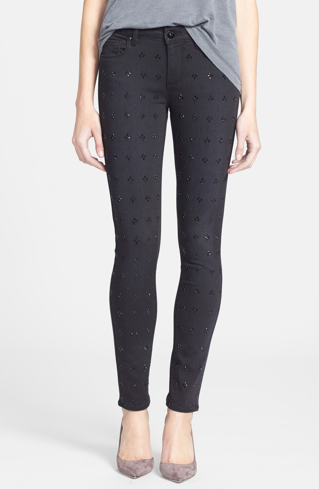 Main Image - Paige Denim 'Verdugo' Ultra Skinny Jeans (Cleo Embellished)