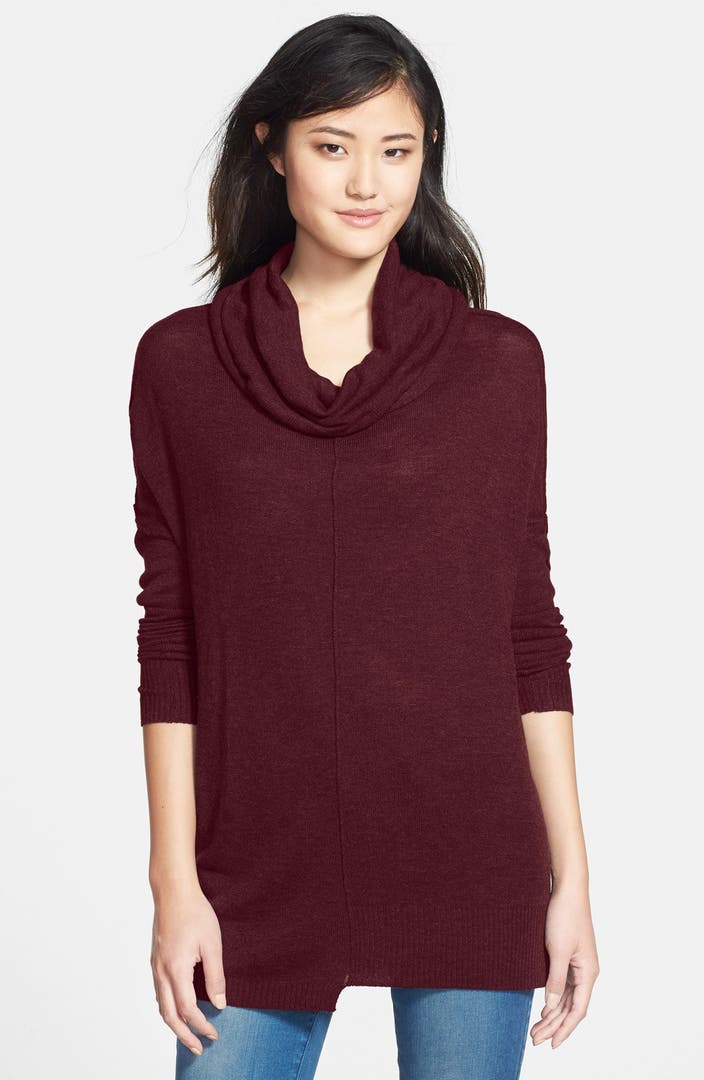 Rd Style Zip Sleeve Cowl Neck Tunic Sweater Nordstrom