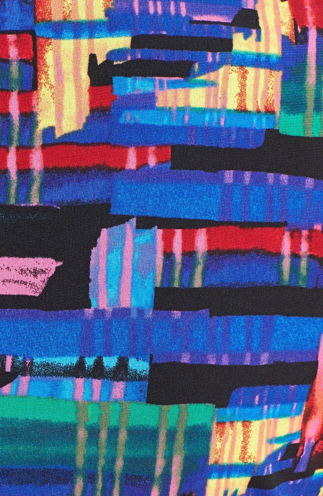 Alternate Image 4  - Ellen Tracy Print Faux Wrap Jersey Dress