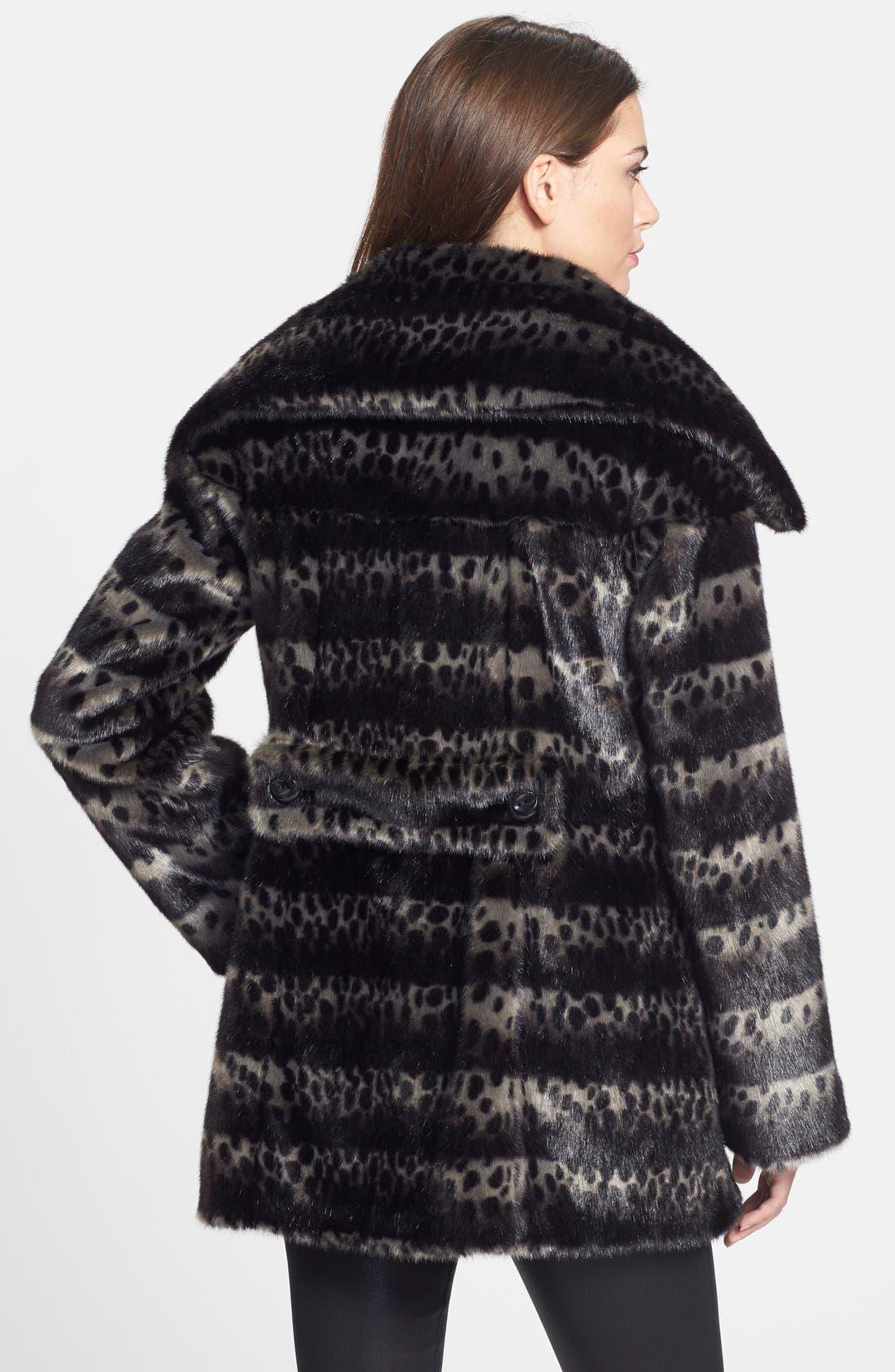 Alternate Image 2  - Gallery Ombré Faux Fur Coat (Regular & Petite) (Online Only)