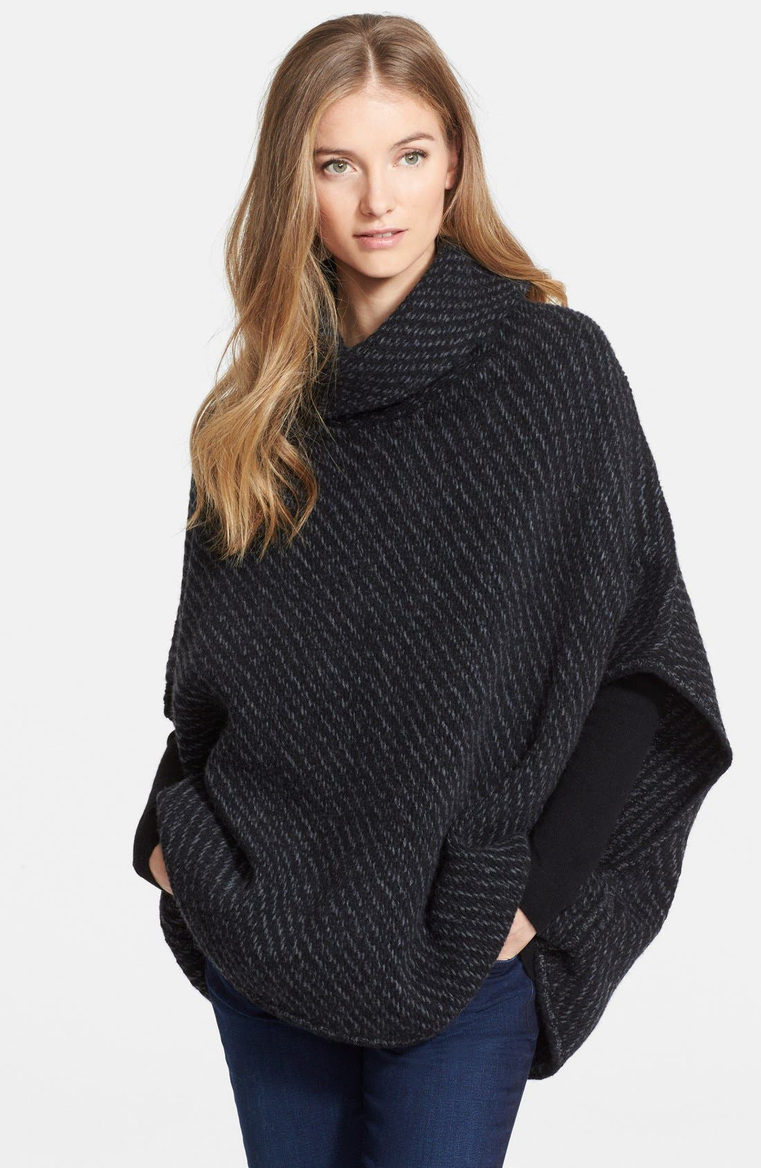 Alternate Image 1 Selected - Joie 'Stellan' Merino Wool & Cashmere Turtleneck Poncho Sweater
