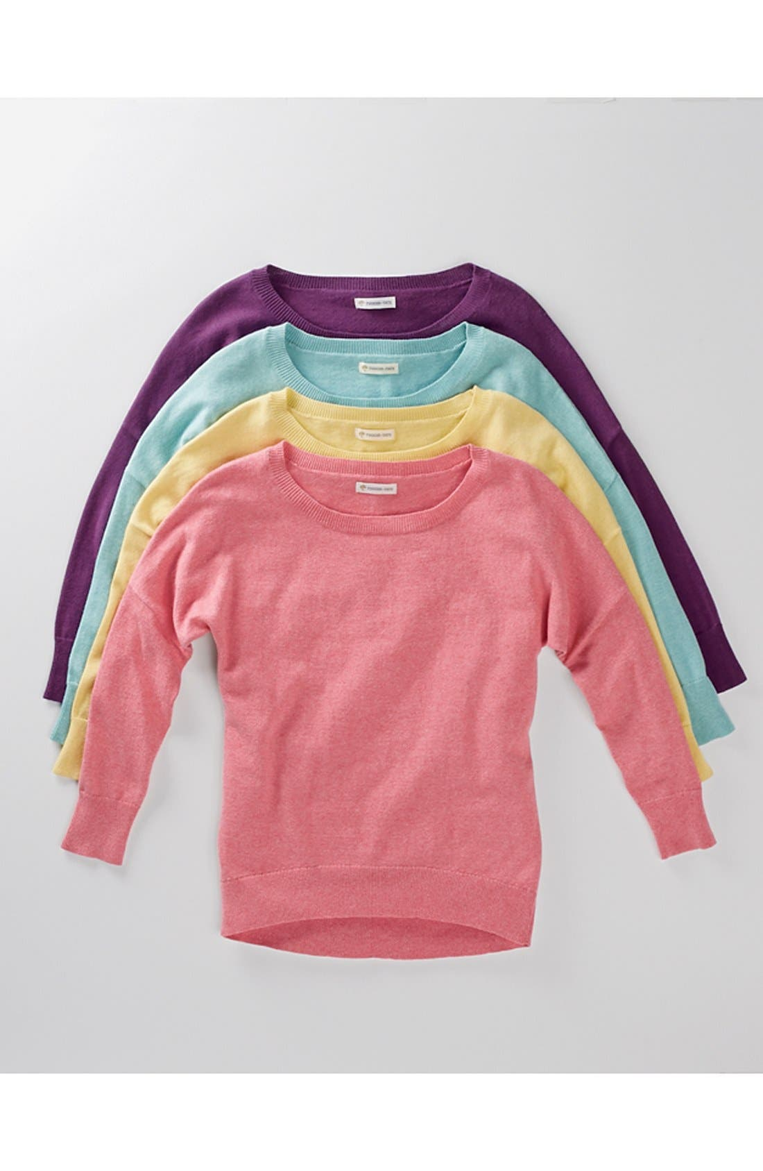Alternate Image 2  - Tucker + Tate High Low Cotton & Cashmere Sweater (Little Girls & Big Girls)