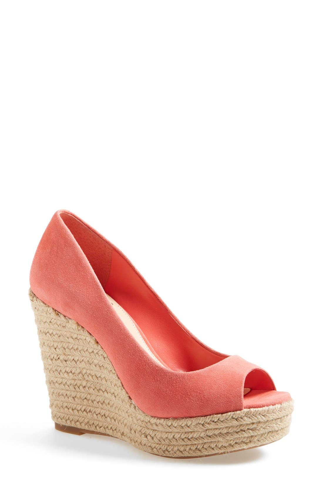 Alternate Image 1 Selected - Vince Camuto 'Totsi' Peep Toe Espadrille Wedge (Women)