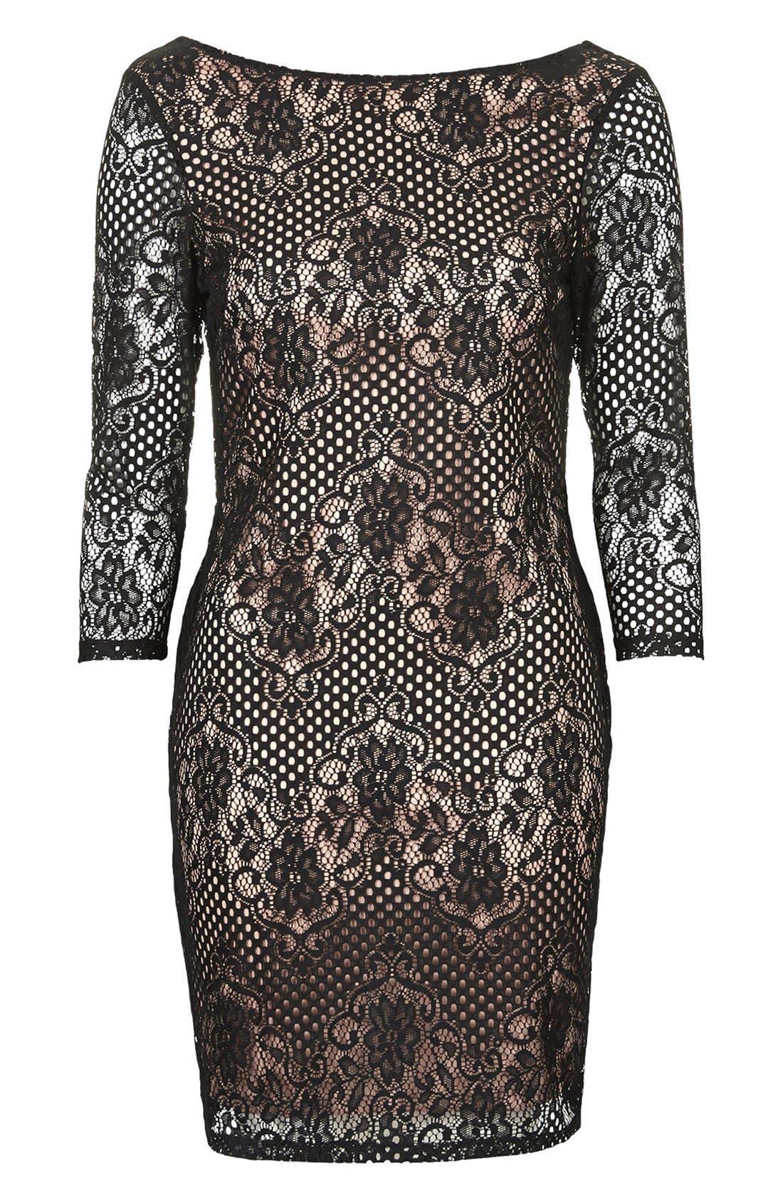 Alternate Image 3  - Topshop Scallop Lace Body-Con Dress