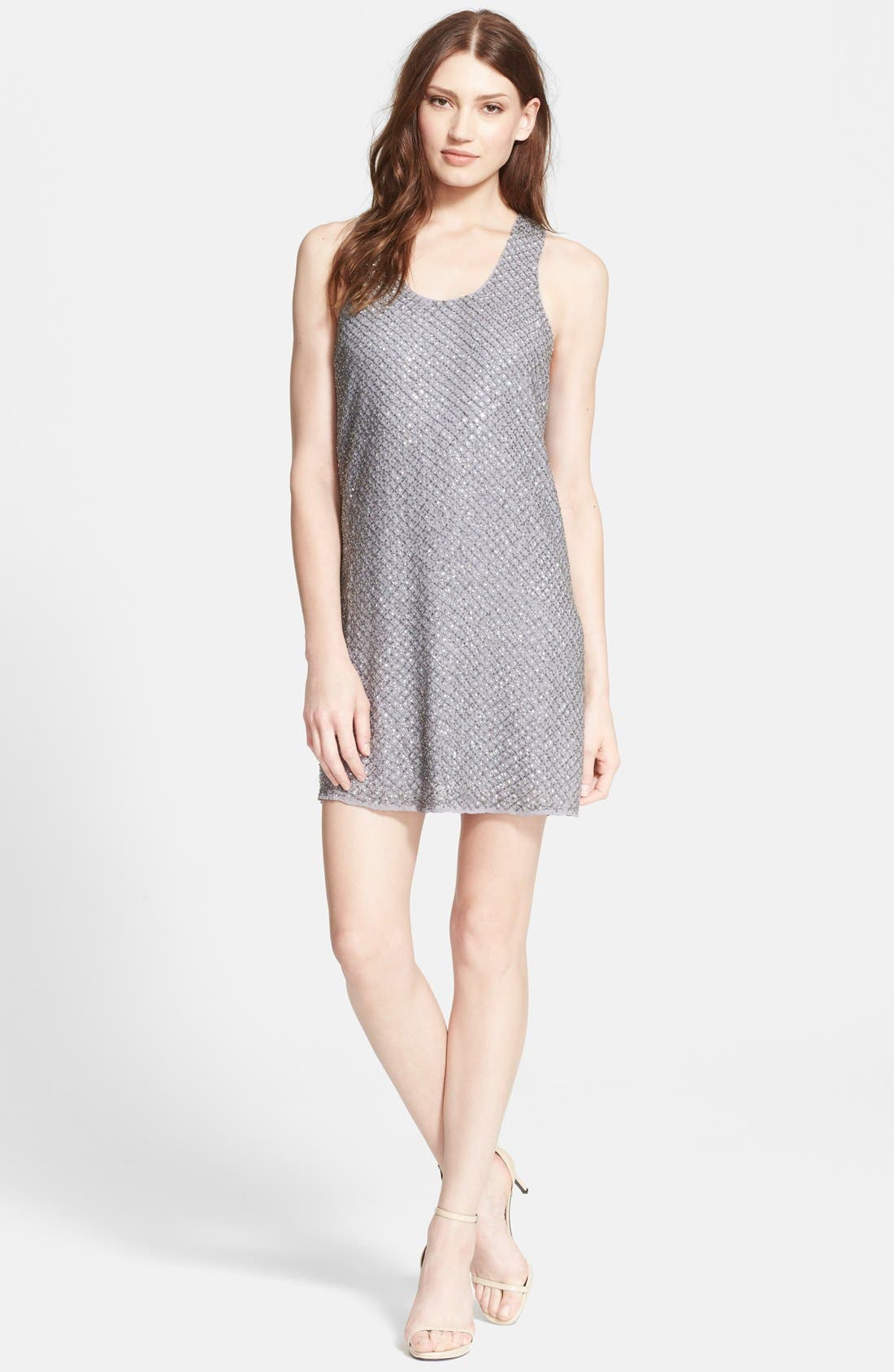 Alternate Image 1 Selected - Joie 'Peri F' Embellished Silk Tank Dress