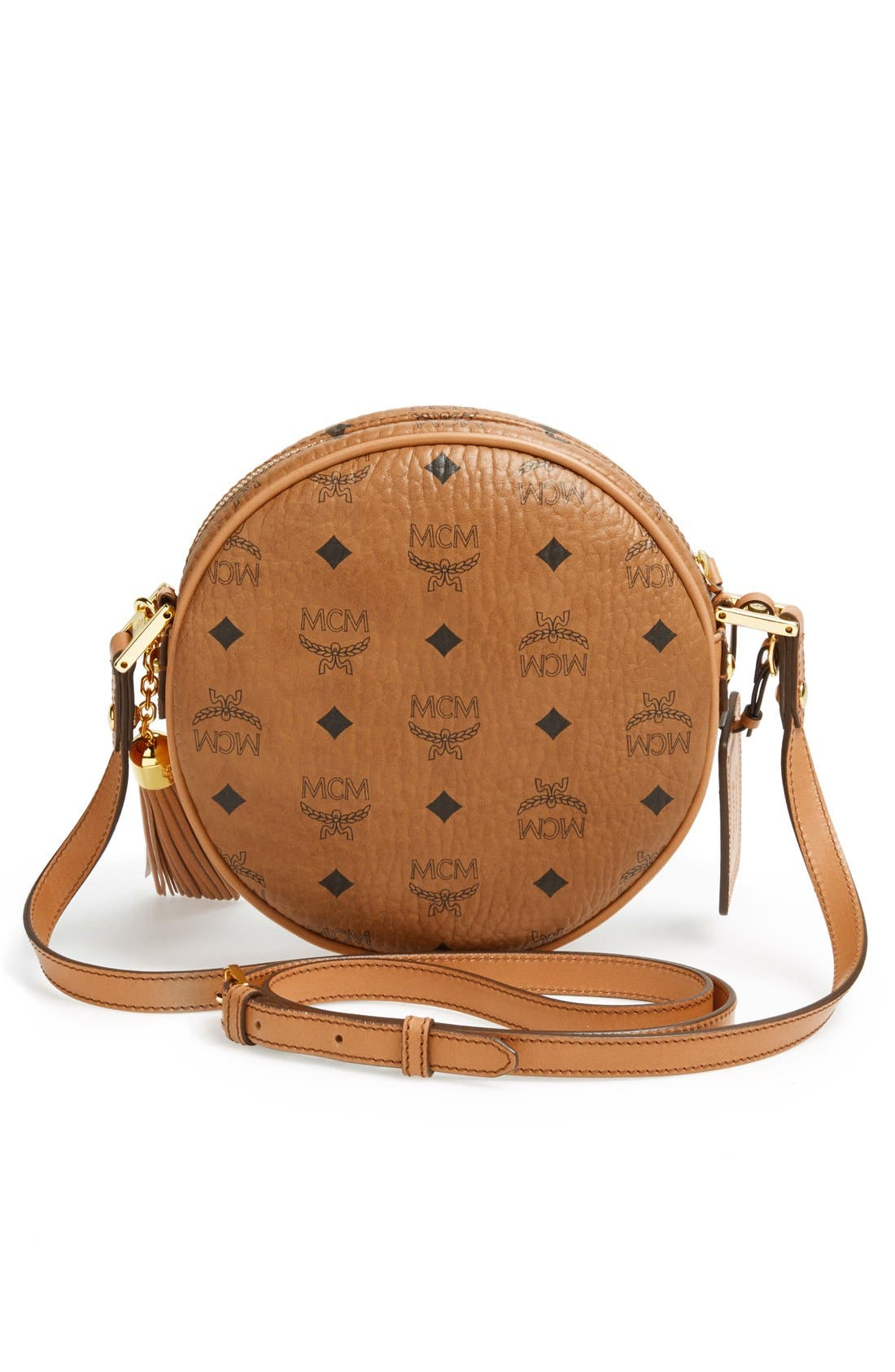 Alternate Image 4  - MCM 'Heritage Tambourine' Coated Canvas Crossbody Bag