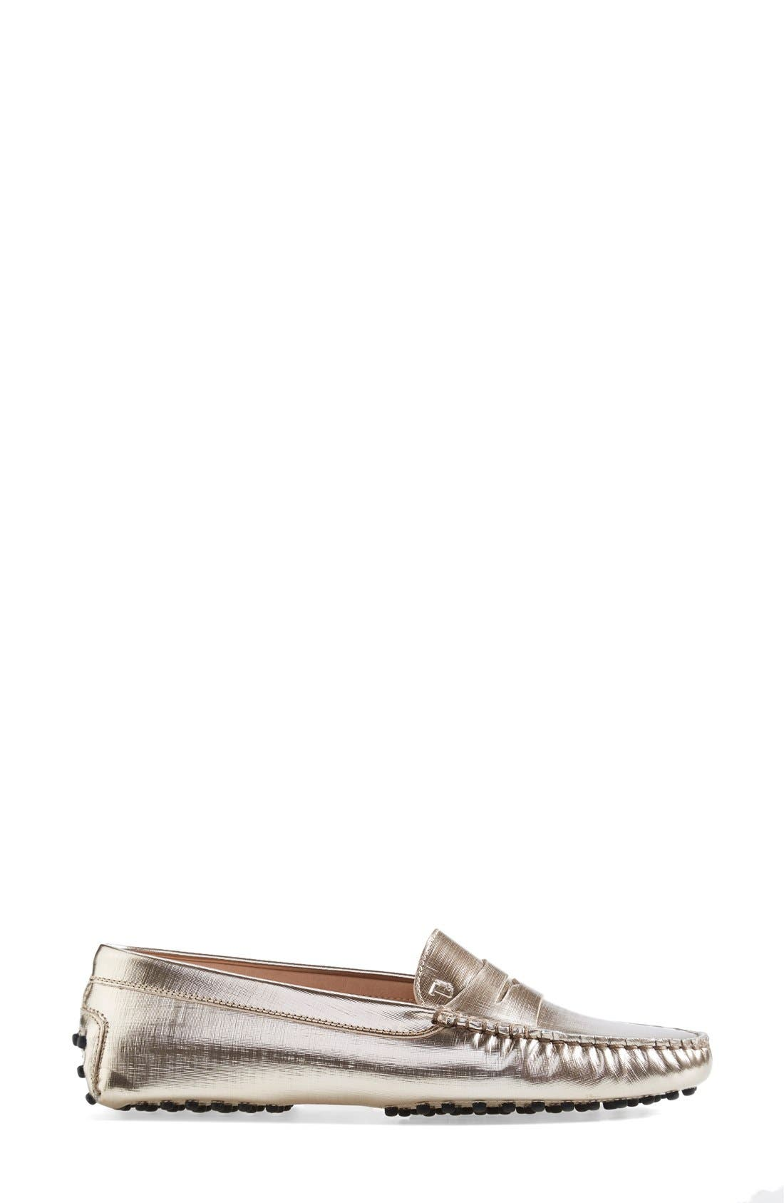 Alternate Image 4  - Tod's 'Gommini' Metallic Leather Penny Loafer