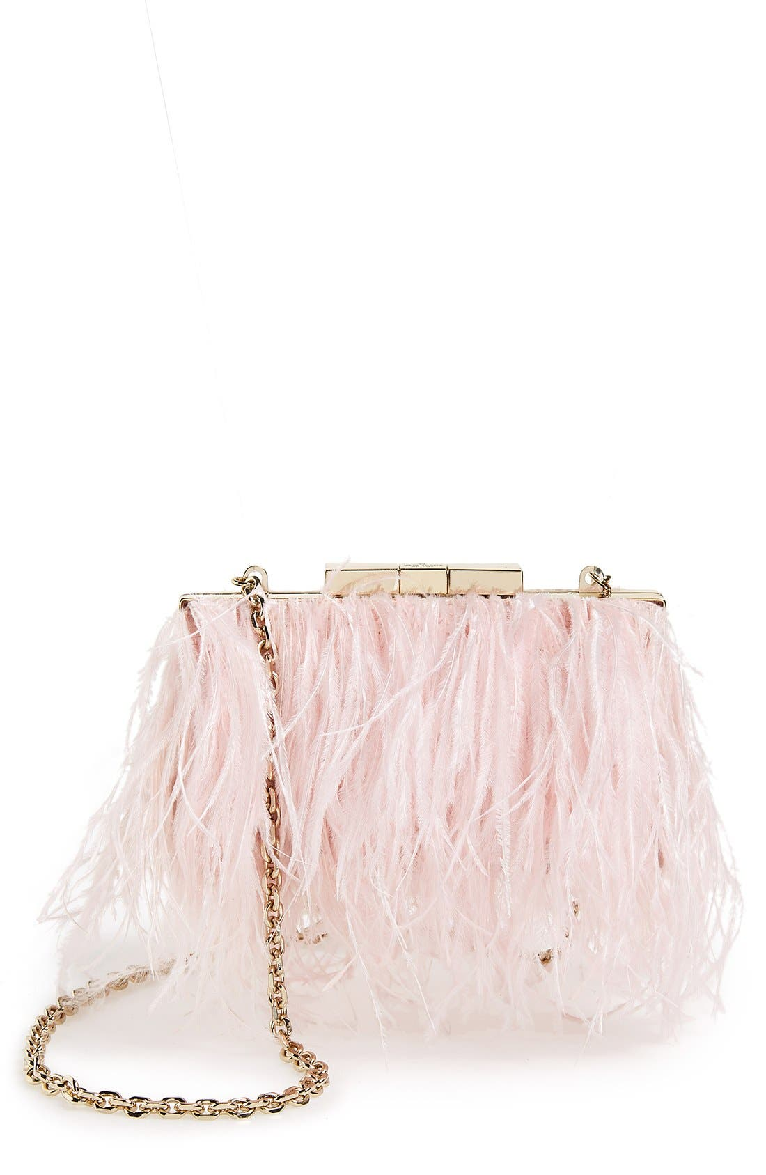 Main Image - kate spade new york 'evening belles - feather mimi' clutch