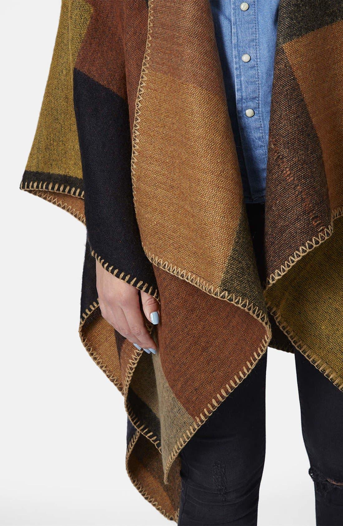 Alternate Image 4  - Topshop Blanket Stitch Cape