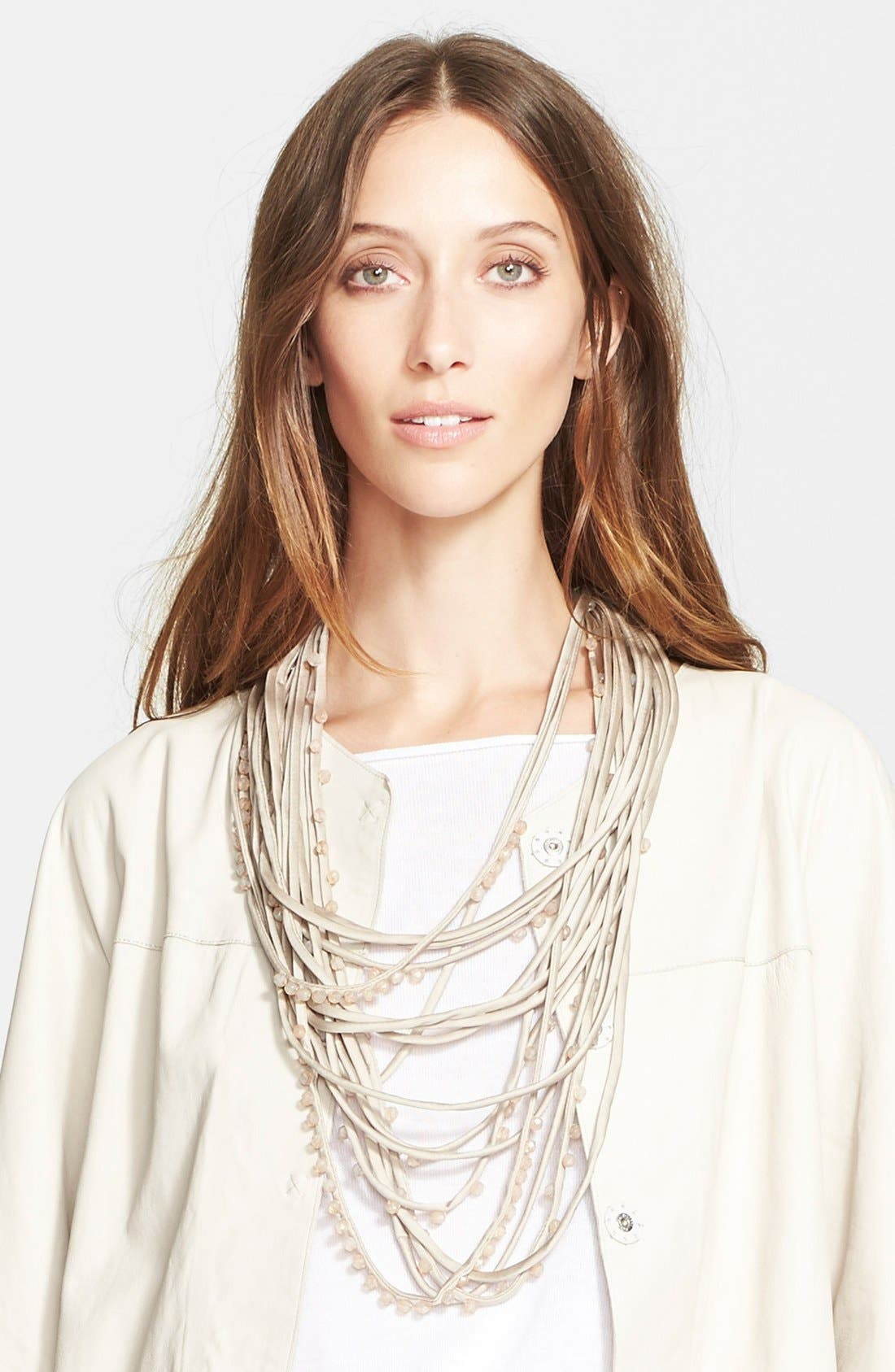 Alternate Image 1 Selected - Fabiana Filippi Glass Pearl Strand Necklace