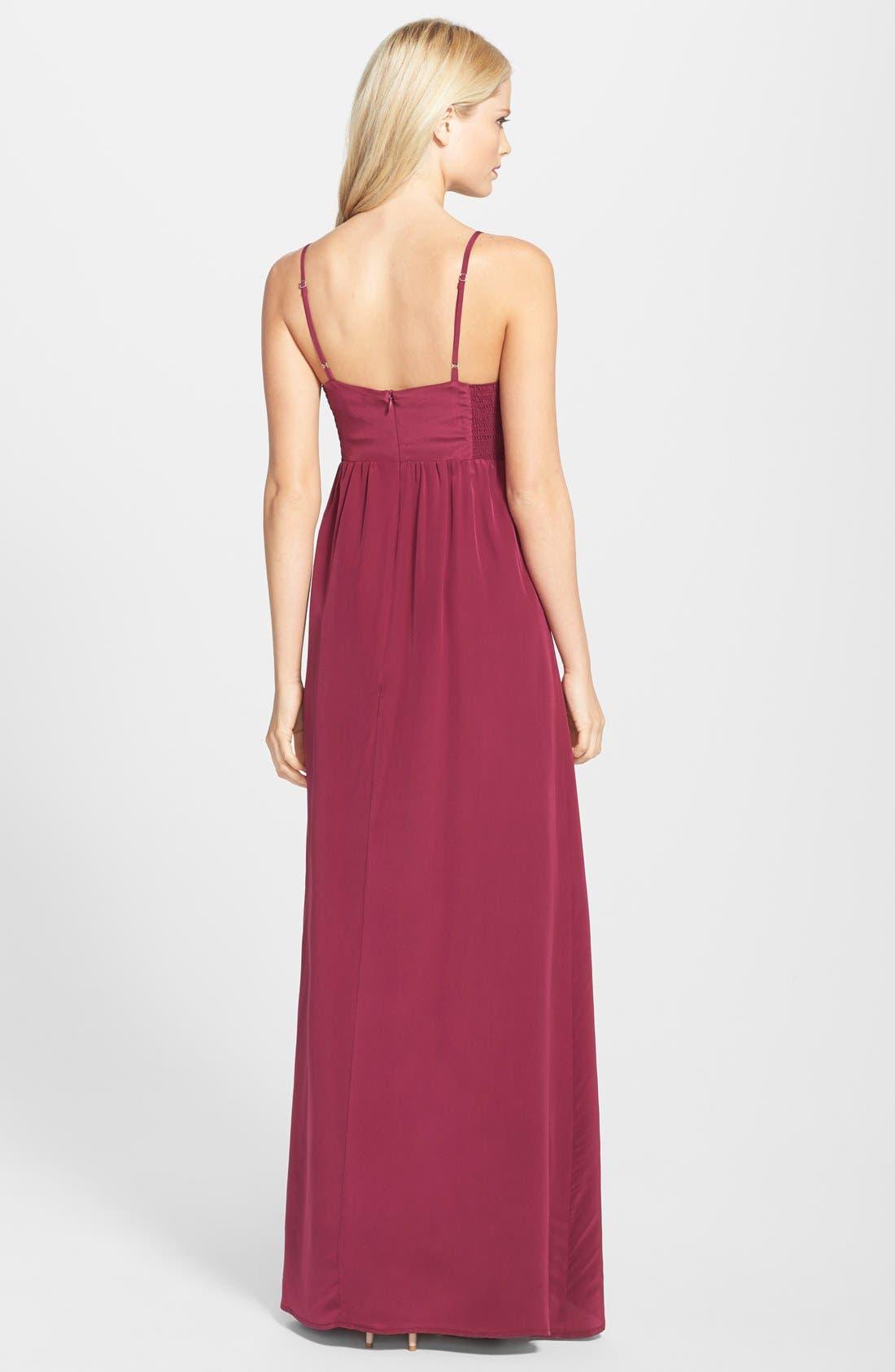 Alternate Image 2  - Amanda Uprichard Silk Maxi Dress