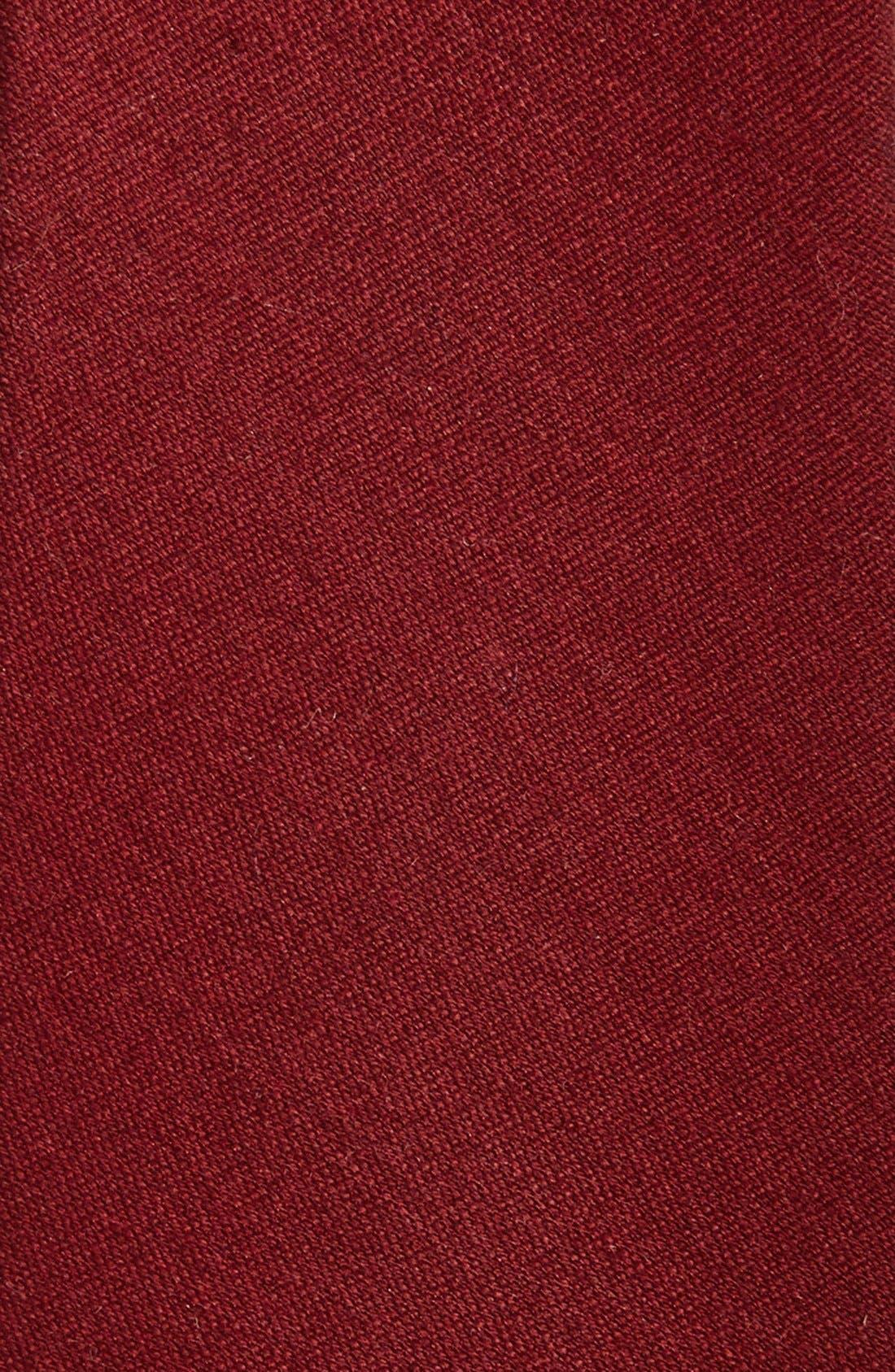 Alternate Image 2  - The Tie Bar Wool & Silk Solid Tie (Online Only)