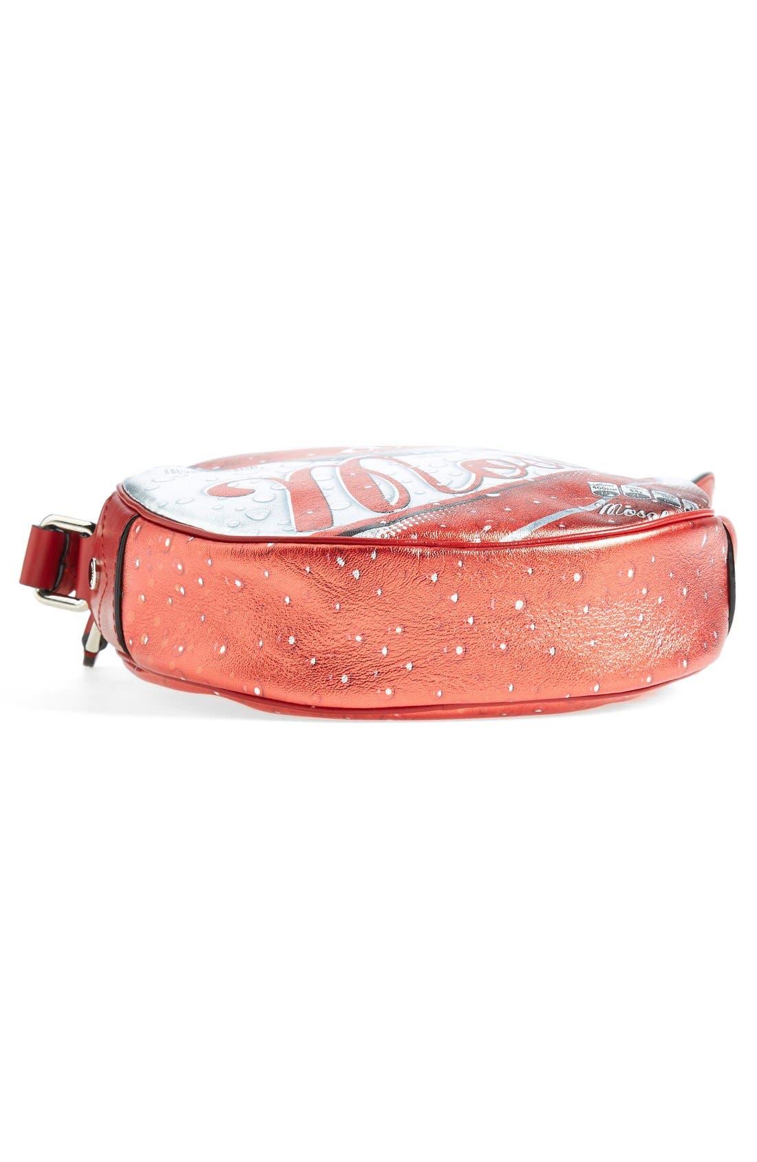 Alternate Image 5  - Moschino 'Drink Moschino' Laminated Leather Crossbody Bag