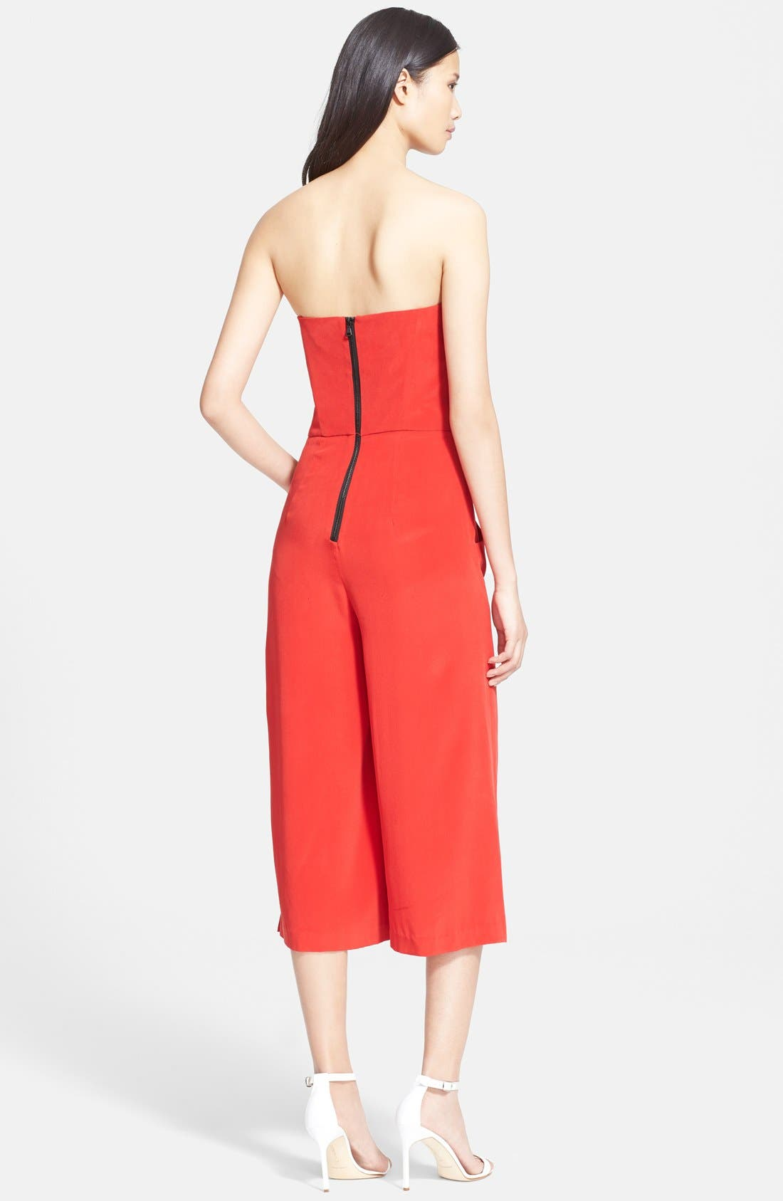 Alternate Image 2  - Milly Strapless Silk Culotte Jumpsuit