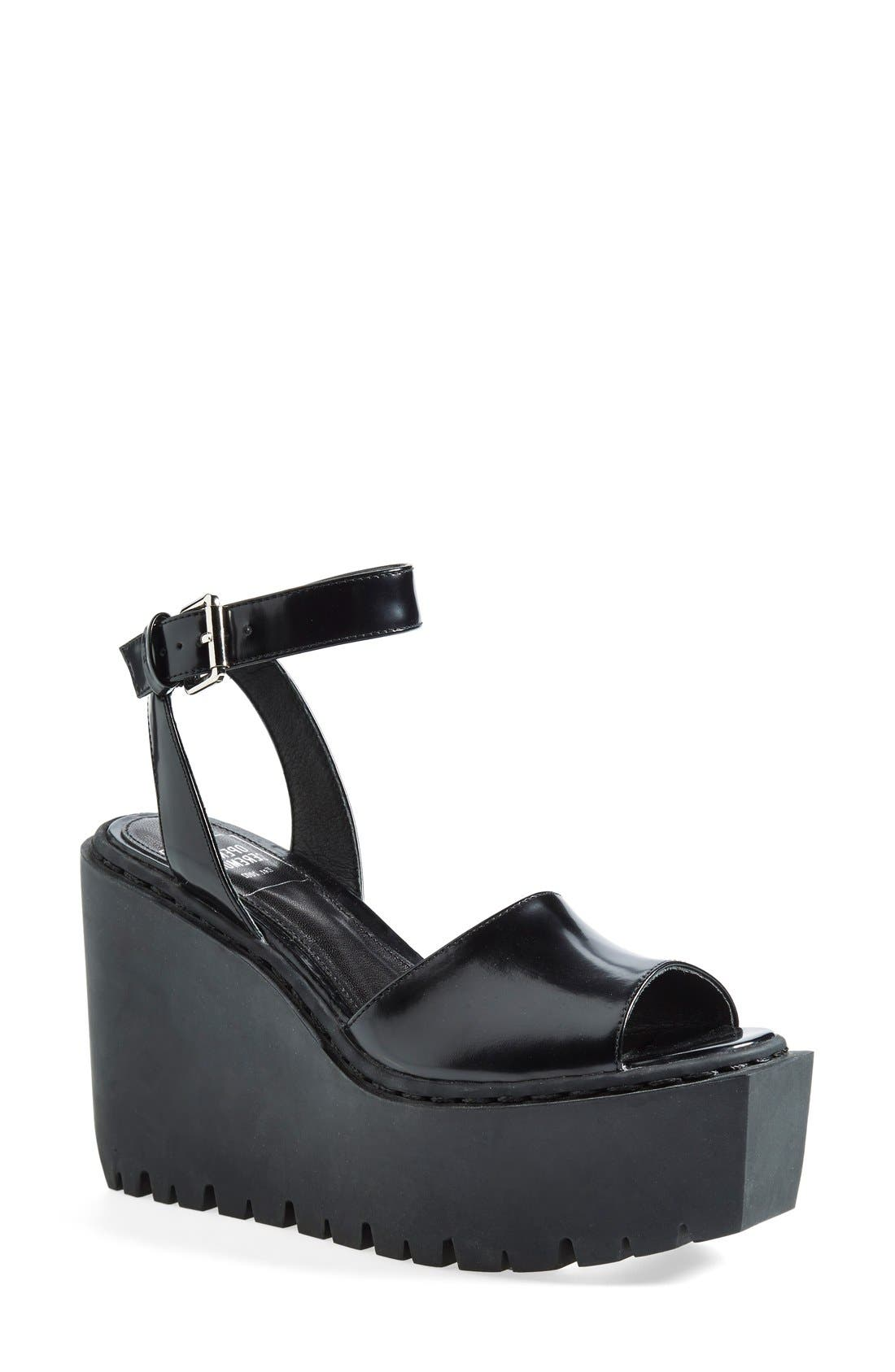 Alternate Image 1 Selected - Opening Ceremony 'Grunge' Wedge Ankle Strap Sandal (Women)