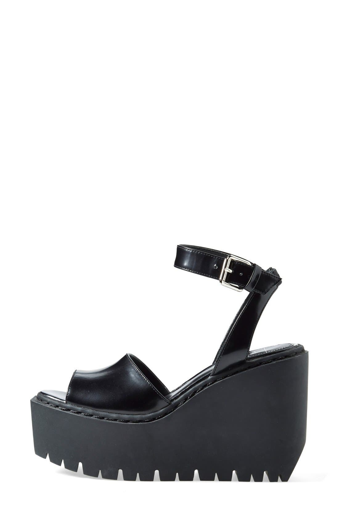 Alternate Image 4  - Opening Ceremony 'Grunge' Wedge Ankle Strap Sandal (Women)