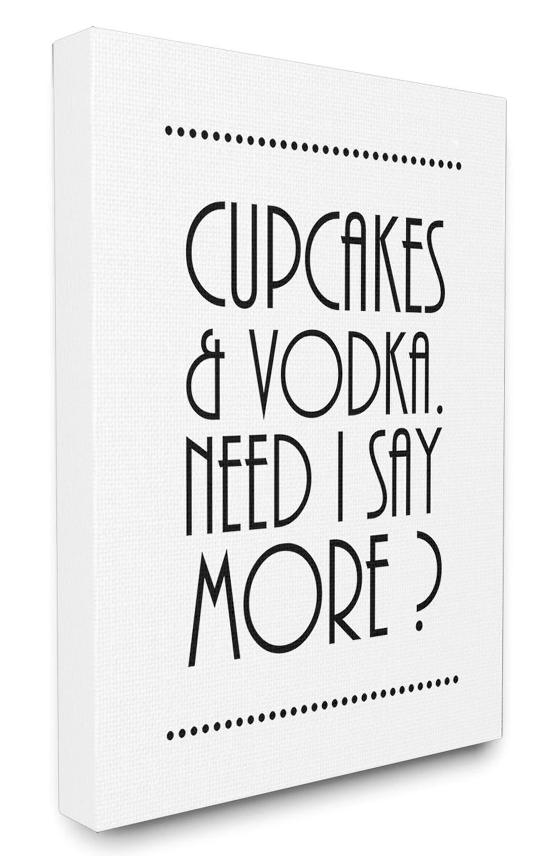 Alternate Image 1 Selected - LulusimonSTUDIO 'Cupcakes & Vodka' Canvas Wall Art